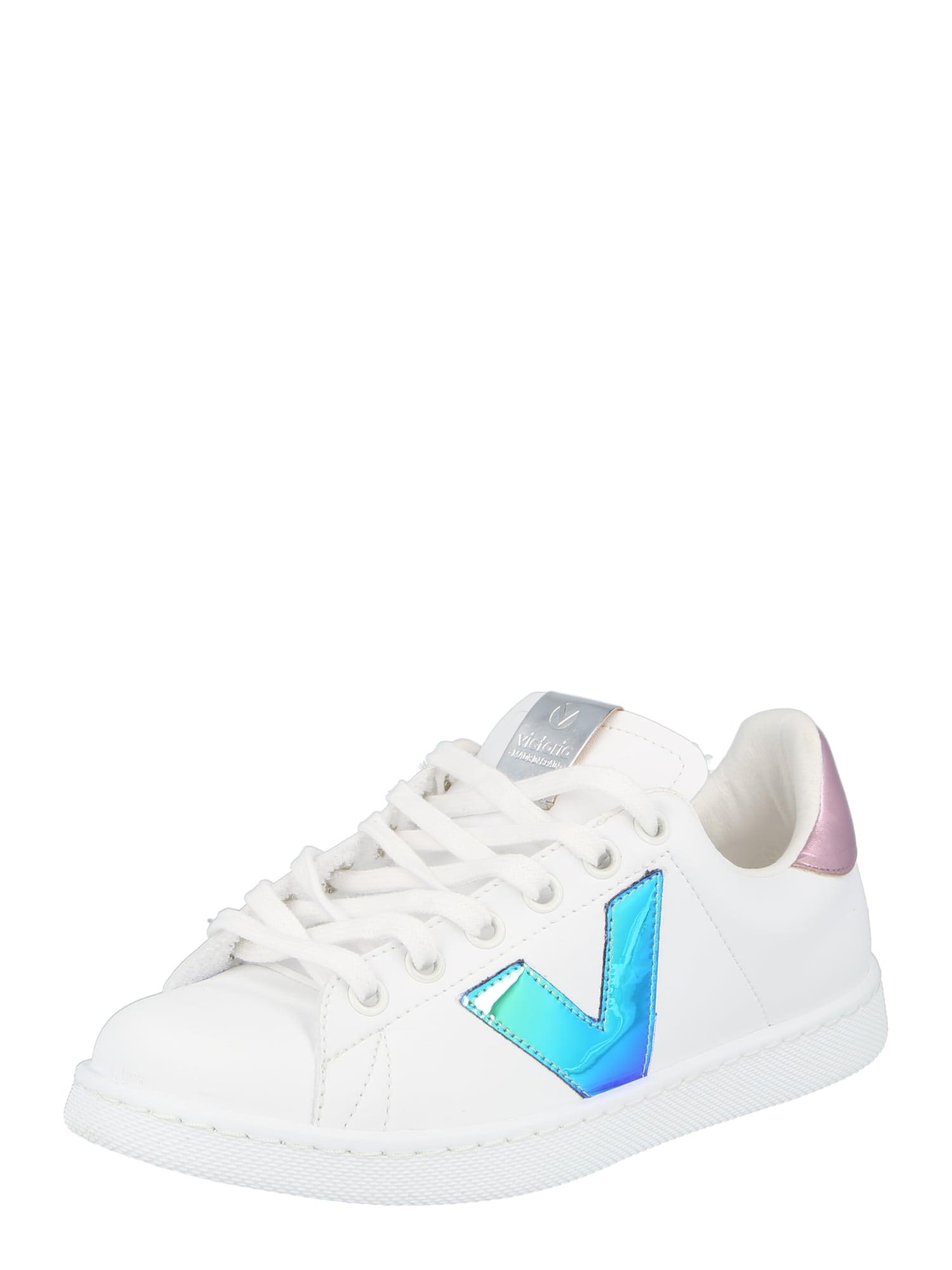 VICTORIA Sportbačiai be auliuko balta / neoninė mėlyna / rožinė
