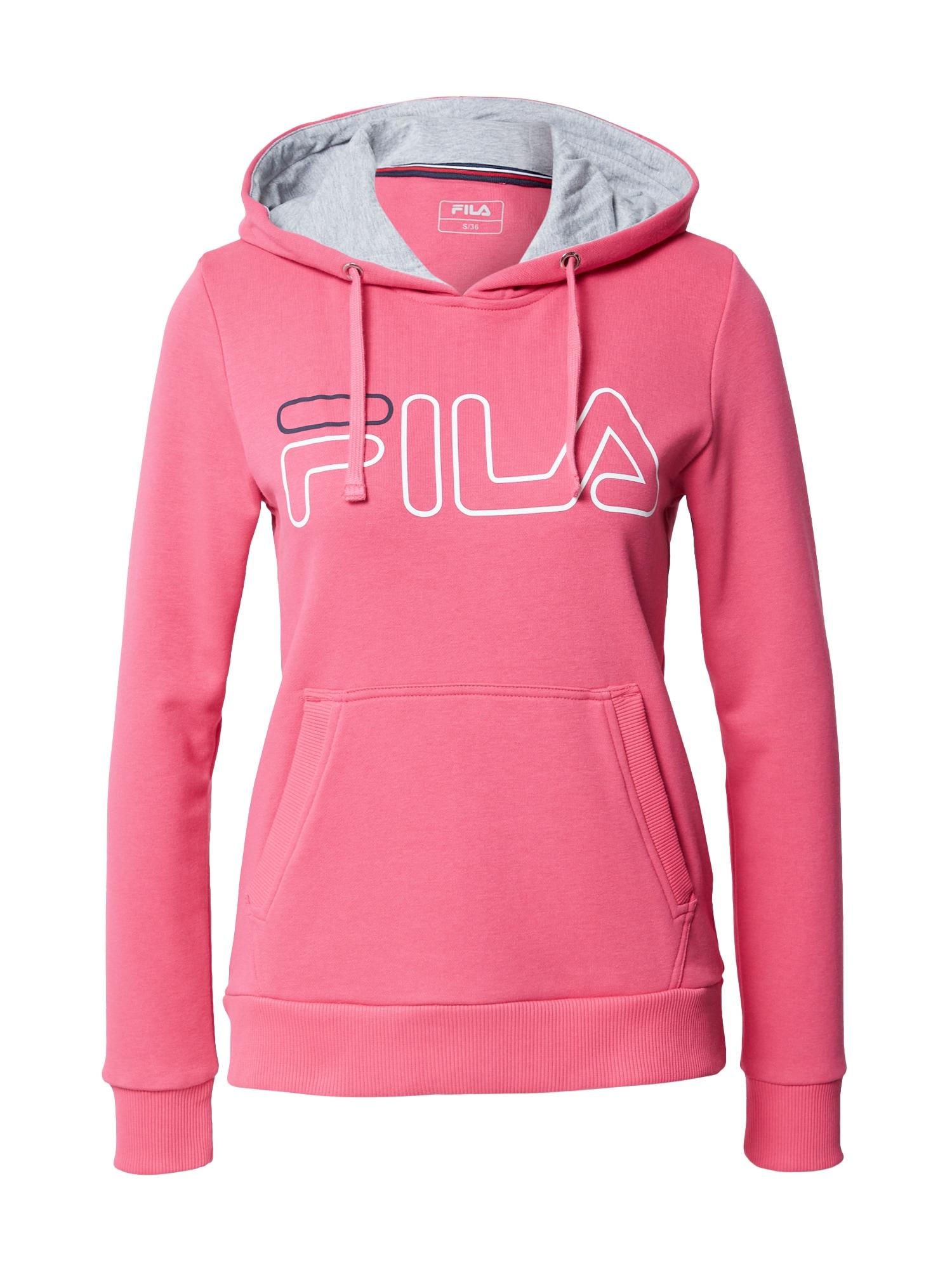 FILA Sportovní mikina 'Frida'  pink / šedý melír