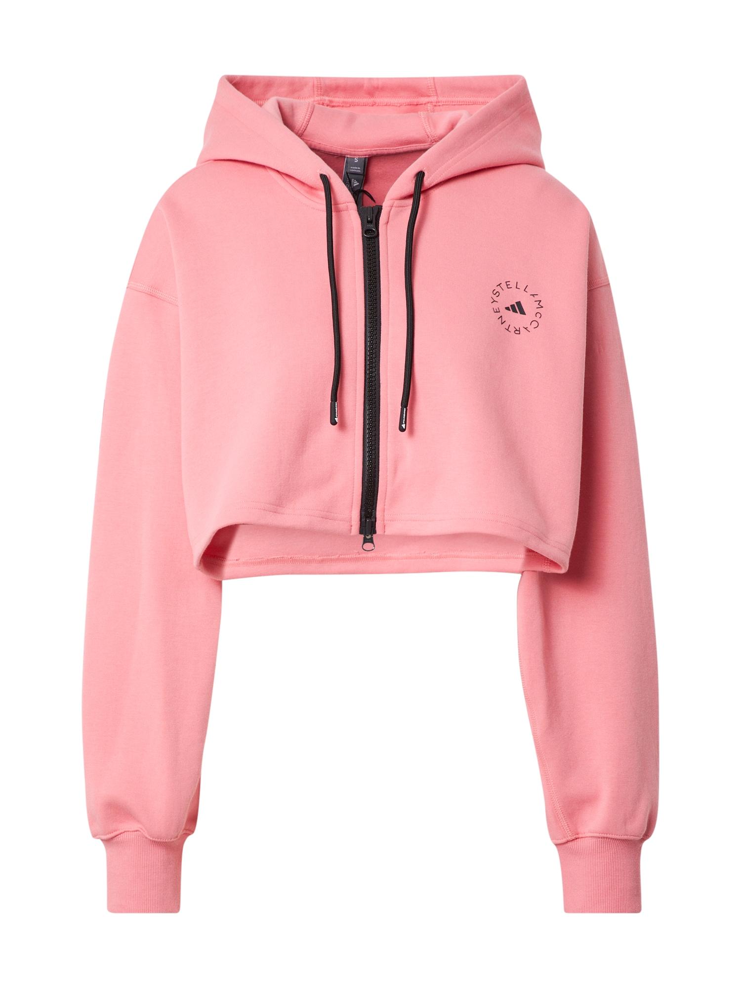 adidas by Stella McCartney Sportinis džemperis šviesiai rožinė / juoda