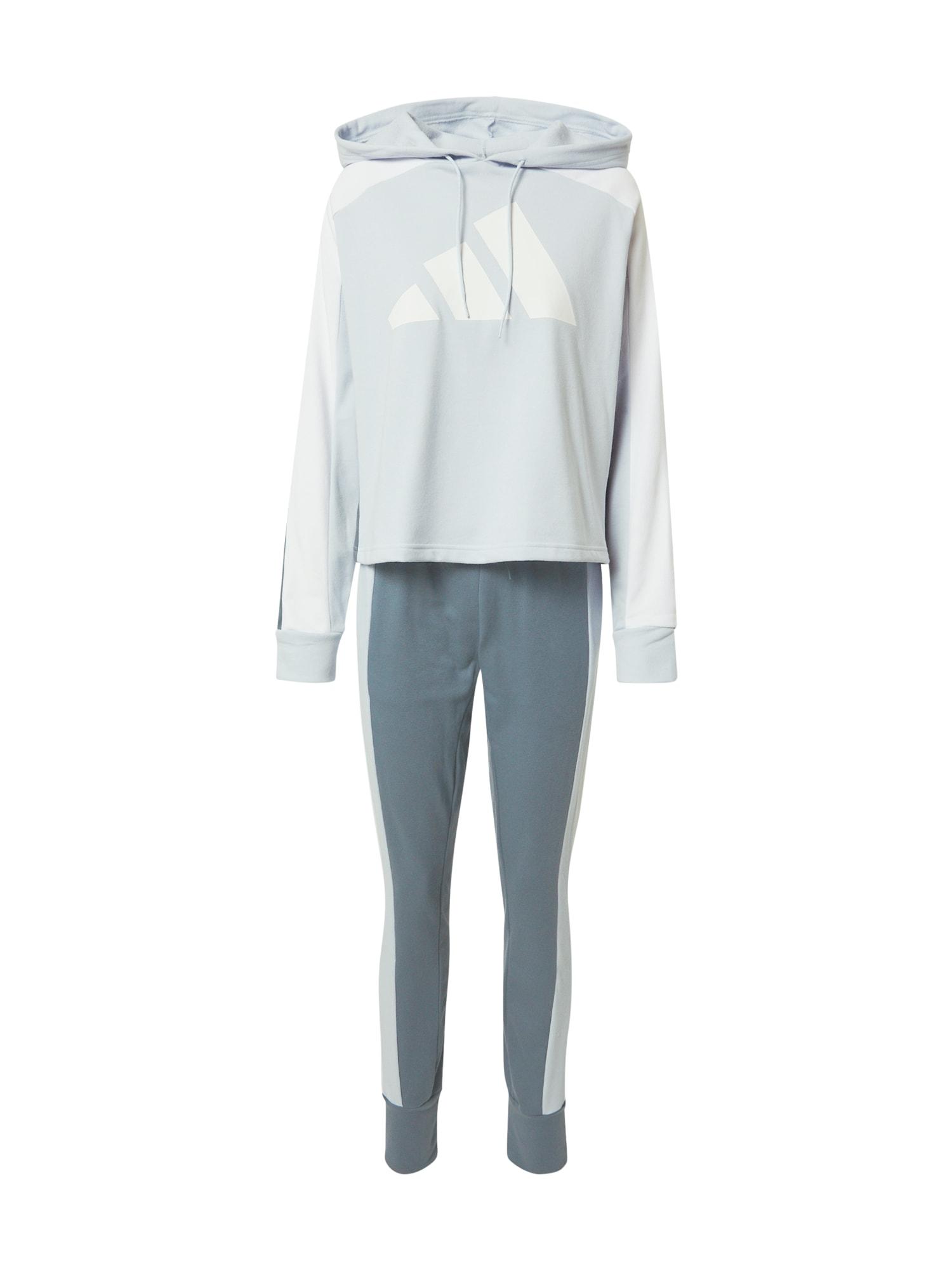 ADIDAS PERFORMANCE Treniruočių kostiumas pastelinė mėlyna / balta / šviesiai mėlyna
