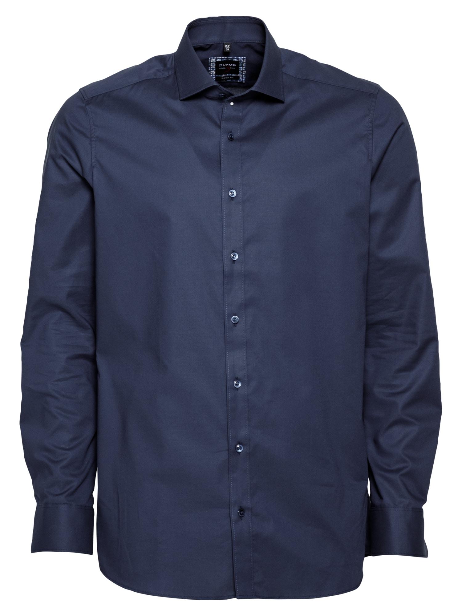 OLYMP Dalykinio stiliaus marškiniai tamsiai mėlyna jūros spalva