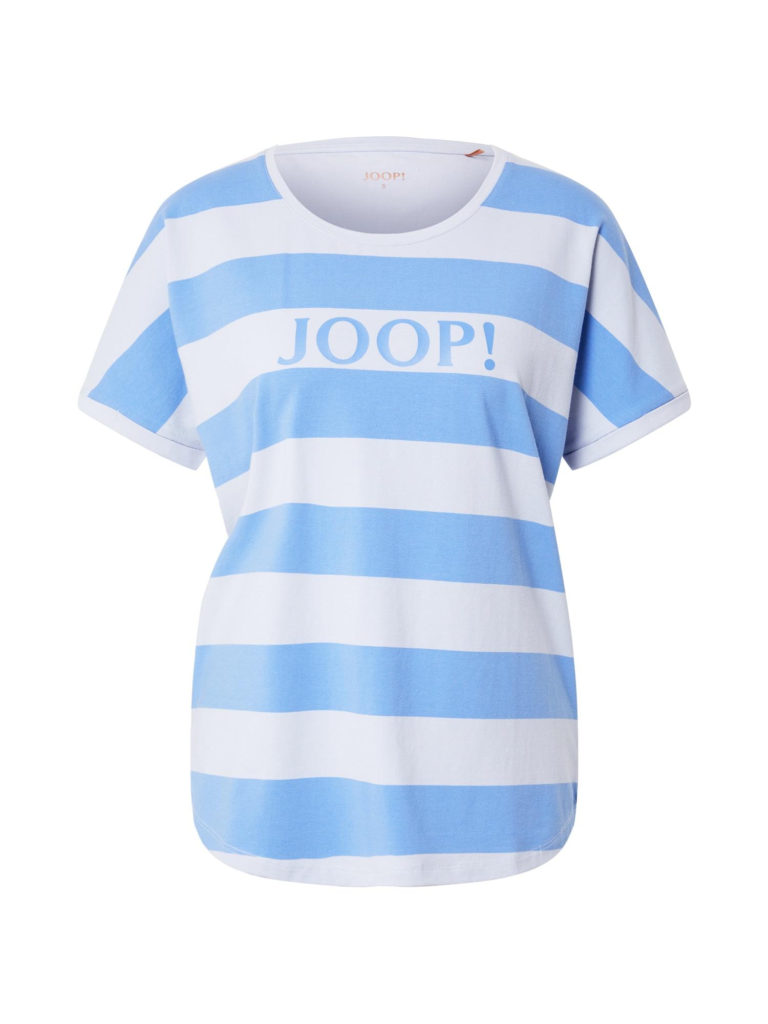 """JOOP! Bodywear Pižaminiai marškinėliai sodri mėlyna (""""karališka"""") / šviesiai mėlyna / balta"""