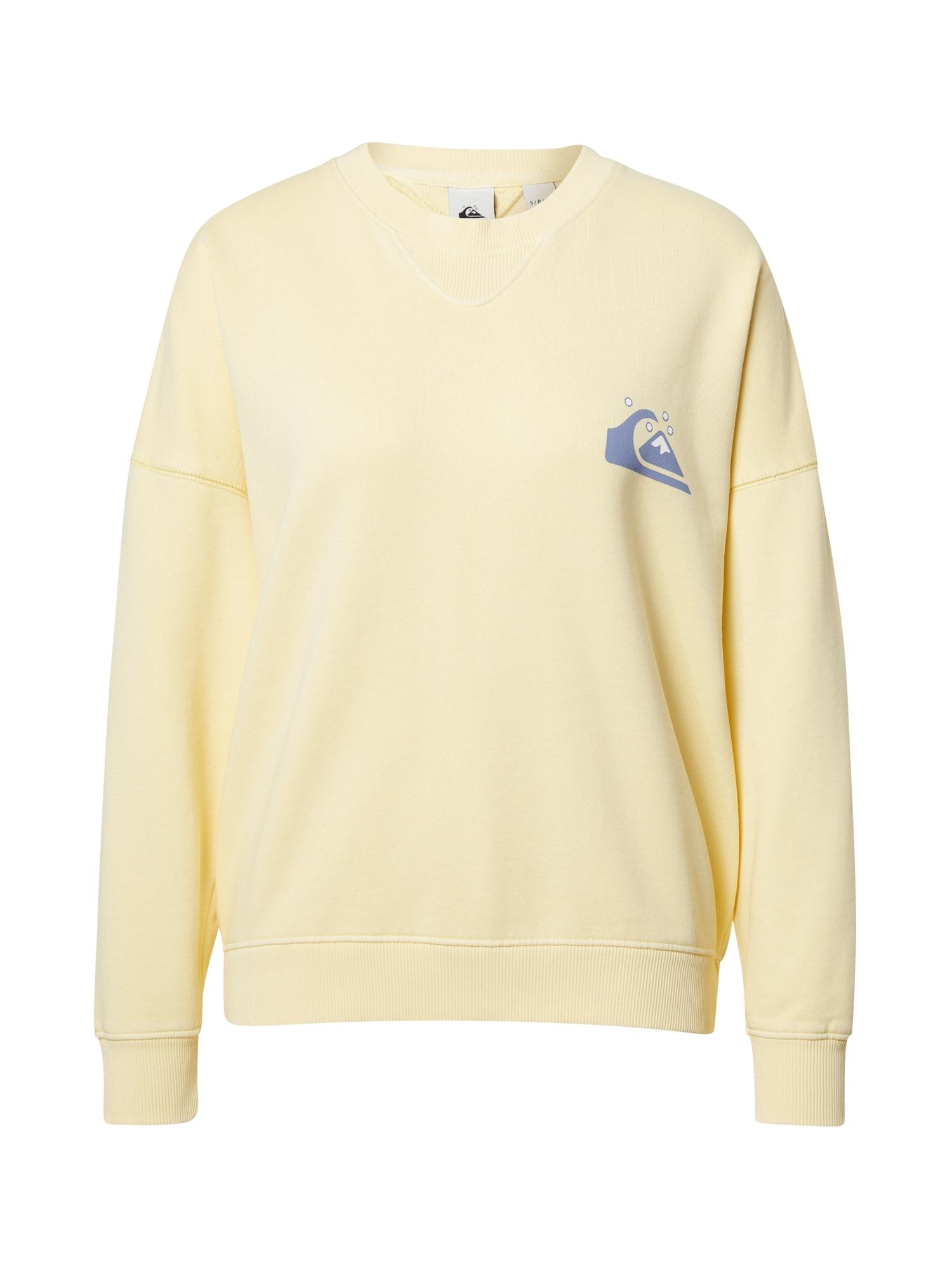 QUIKSILVER Megztinis be užsegimo šviesiai geltona / purpurinė / balta