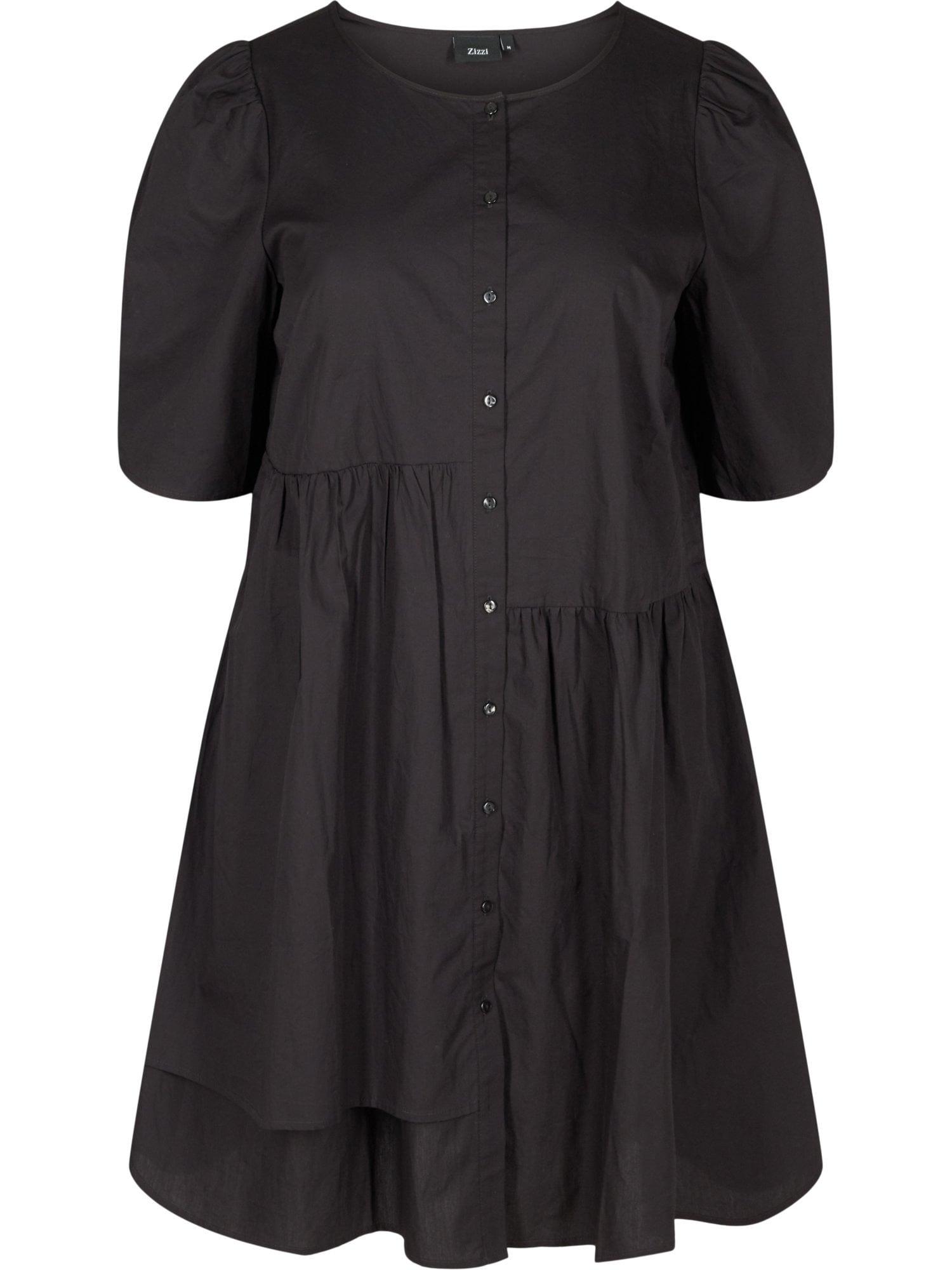 Zizzi Košilové šaty 'Ehelena'  černá