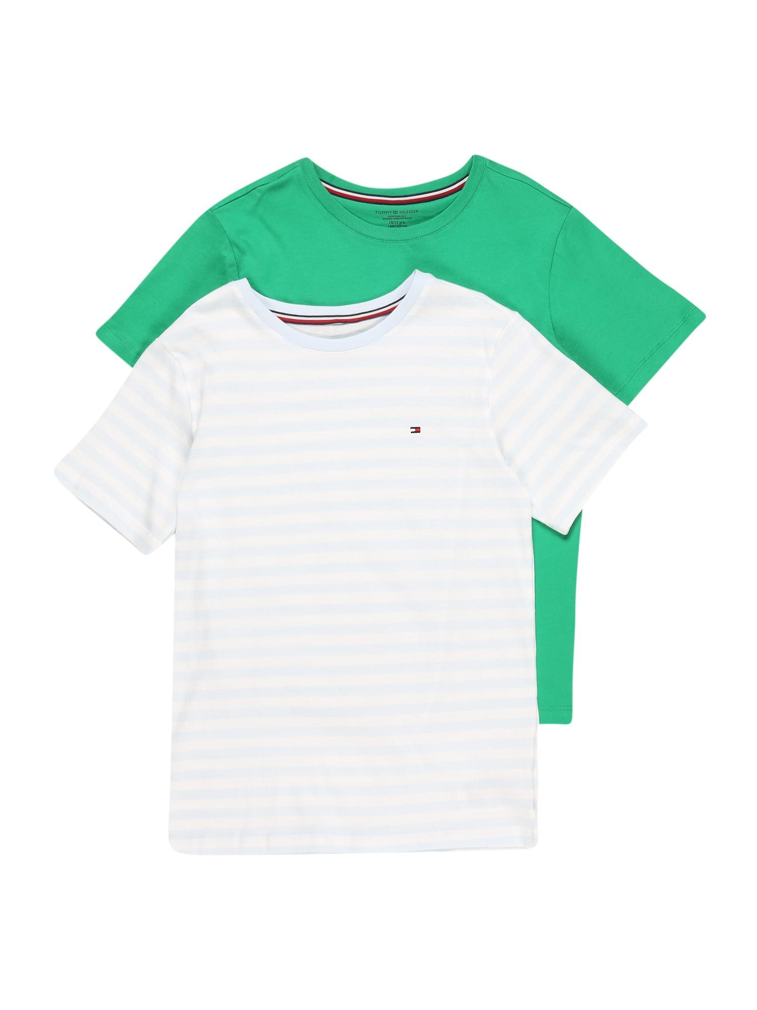 Tommy Hilfiger Underwear Apatiniai marškinėliai žalia / šviesiai mėlyna / balta / raudona
