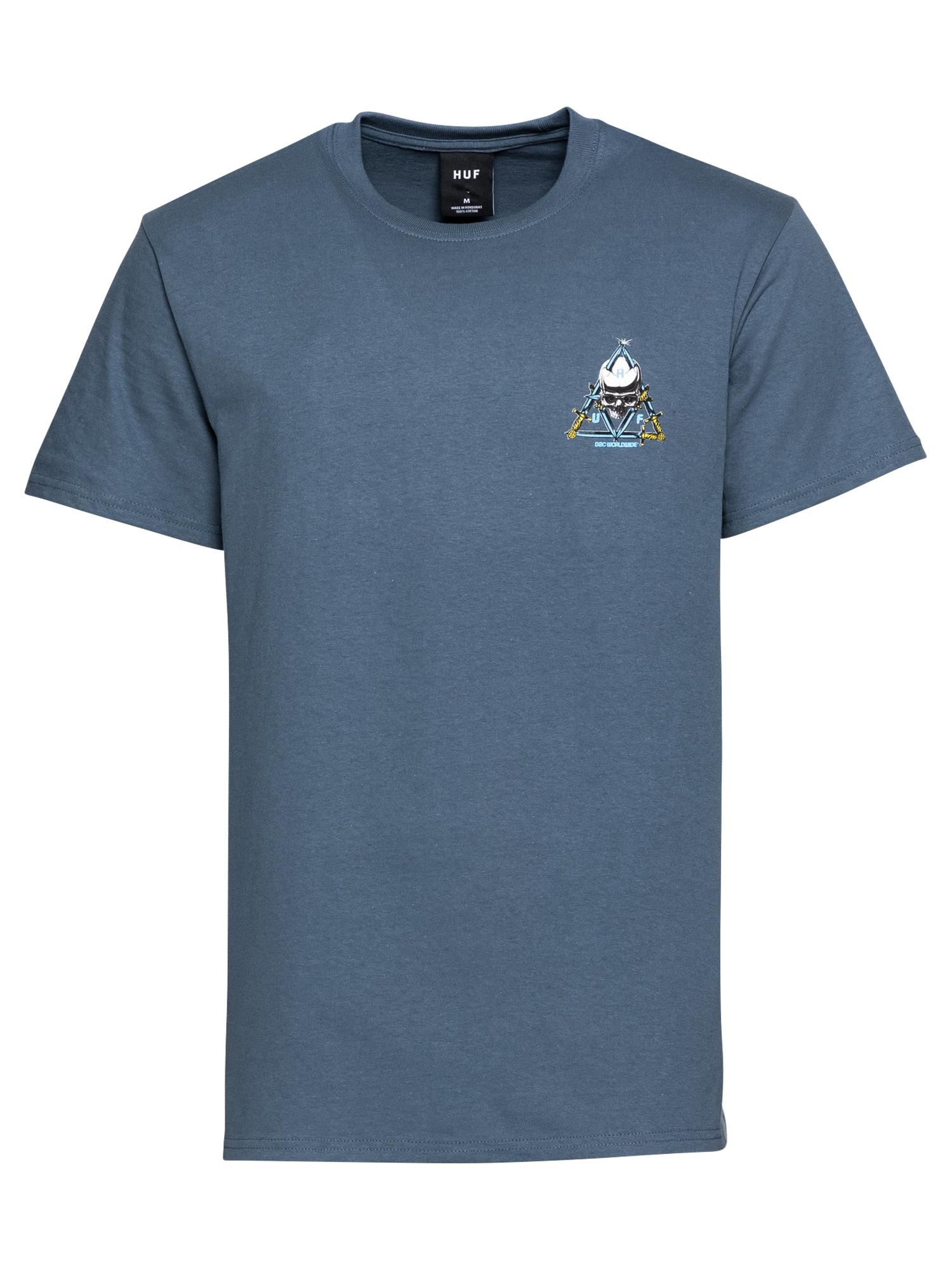 HUF Marškinėliai melsvai pilka / mišrios spalvos
