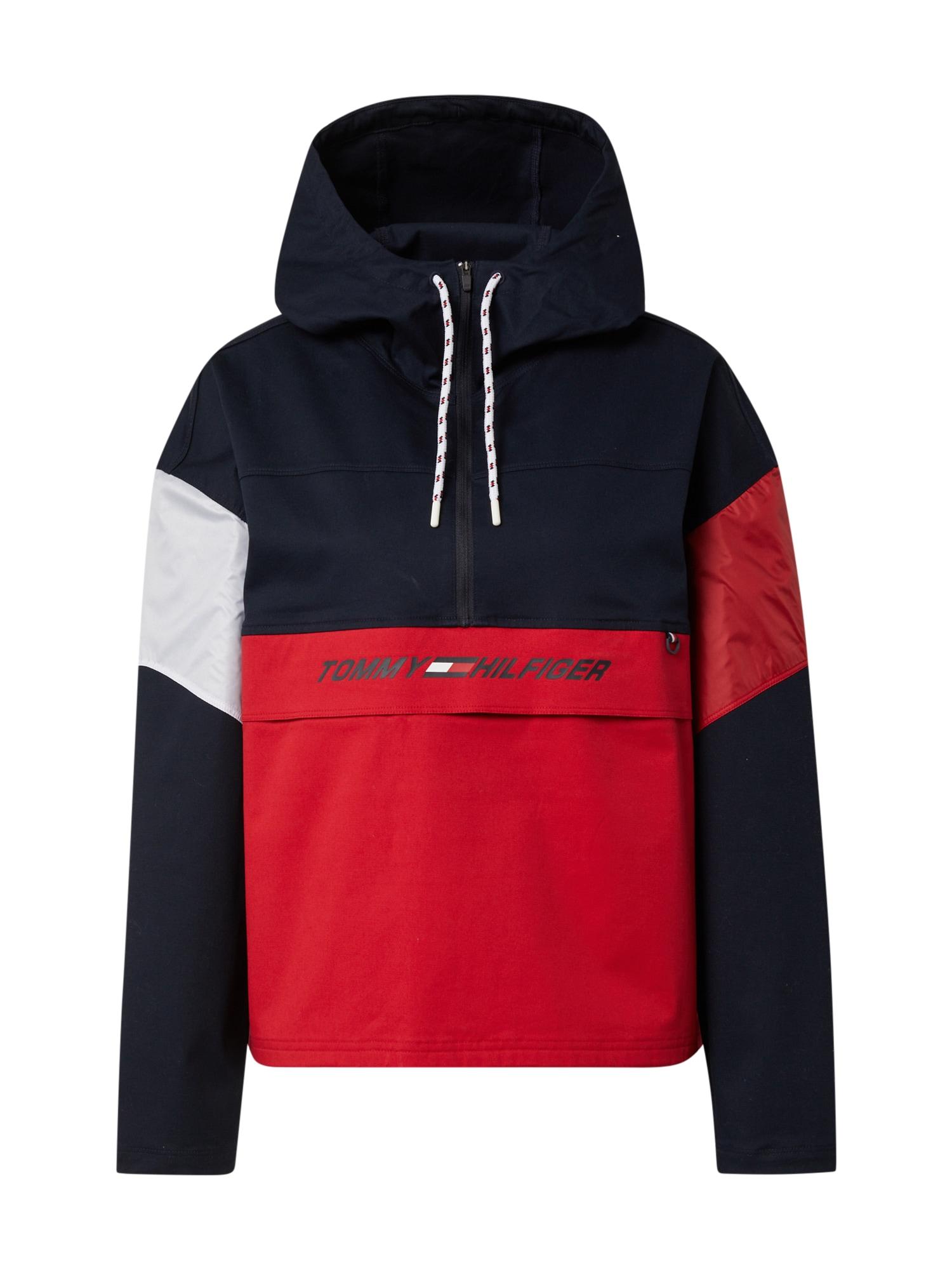 Tommy Sport Sportovní bunda  červená / bílá / námořnická modř