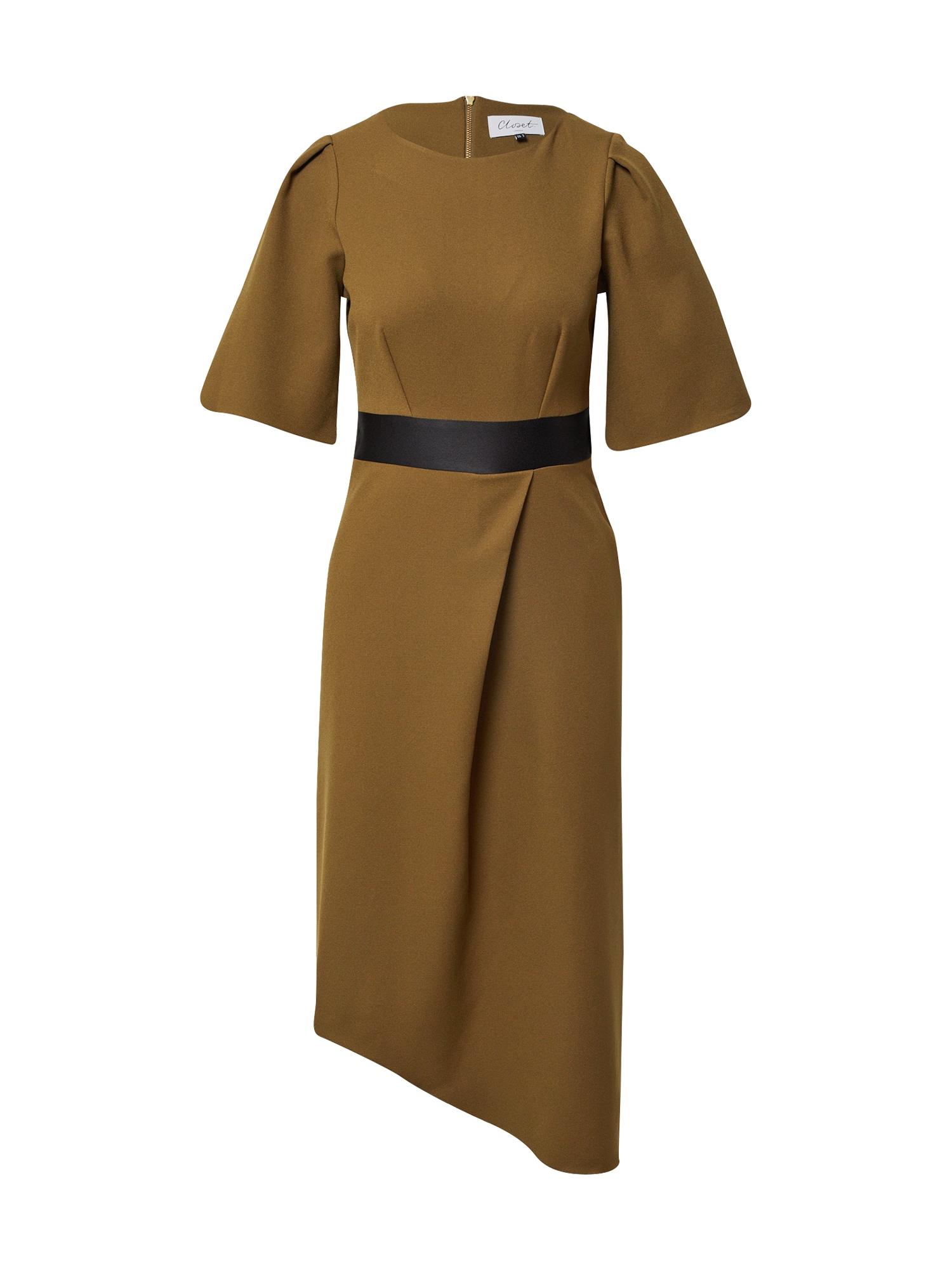 Closet London Suknelė alyvuogių spalva / juoda