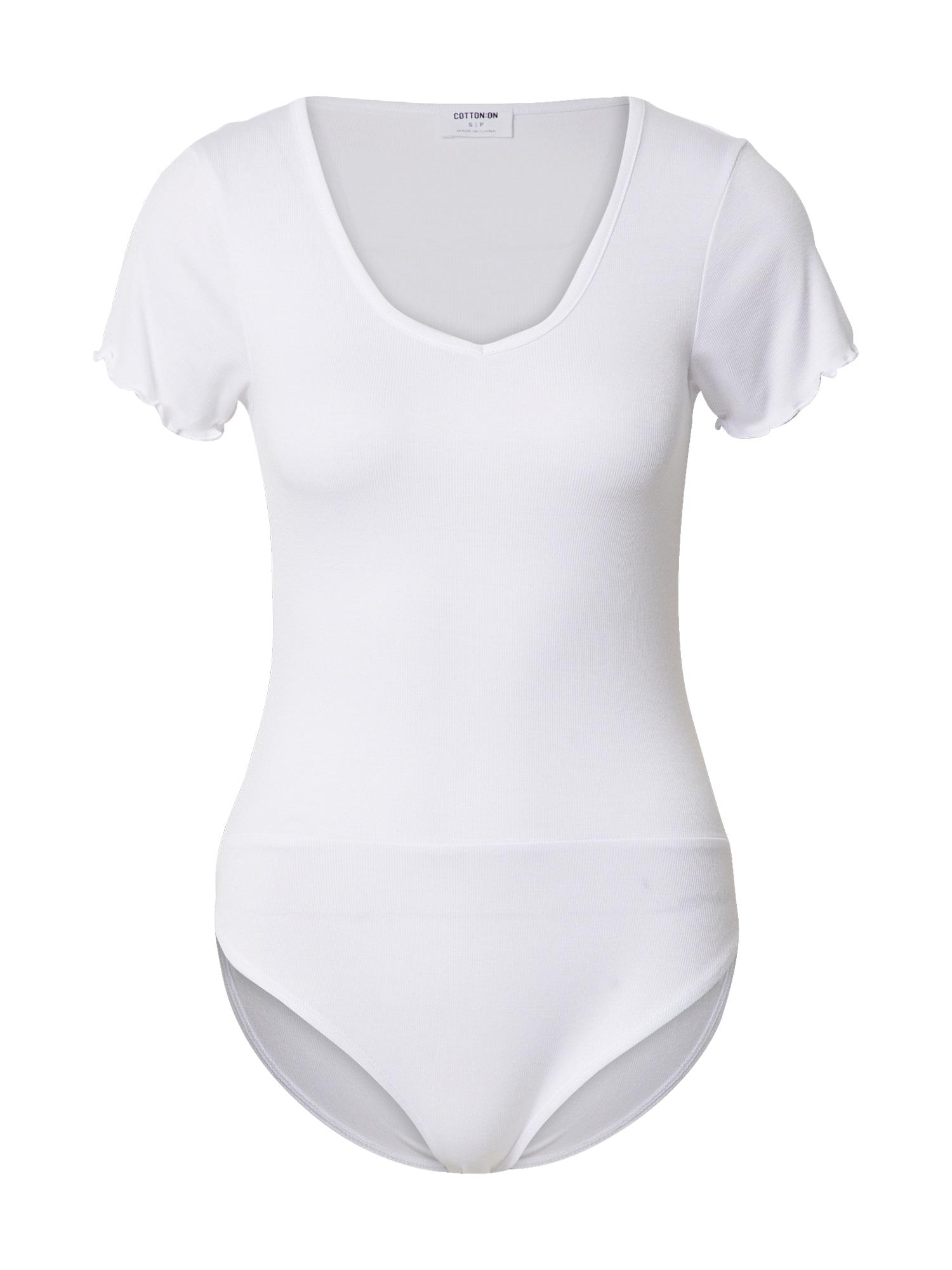 Cotton On Marškinėliai-glaustinukė balta
