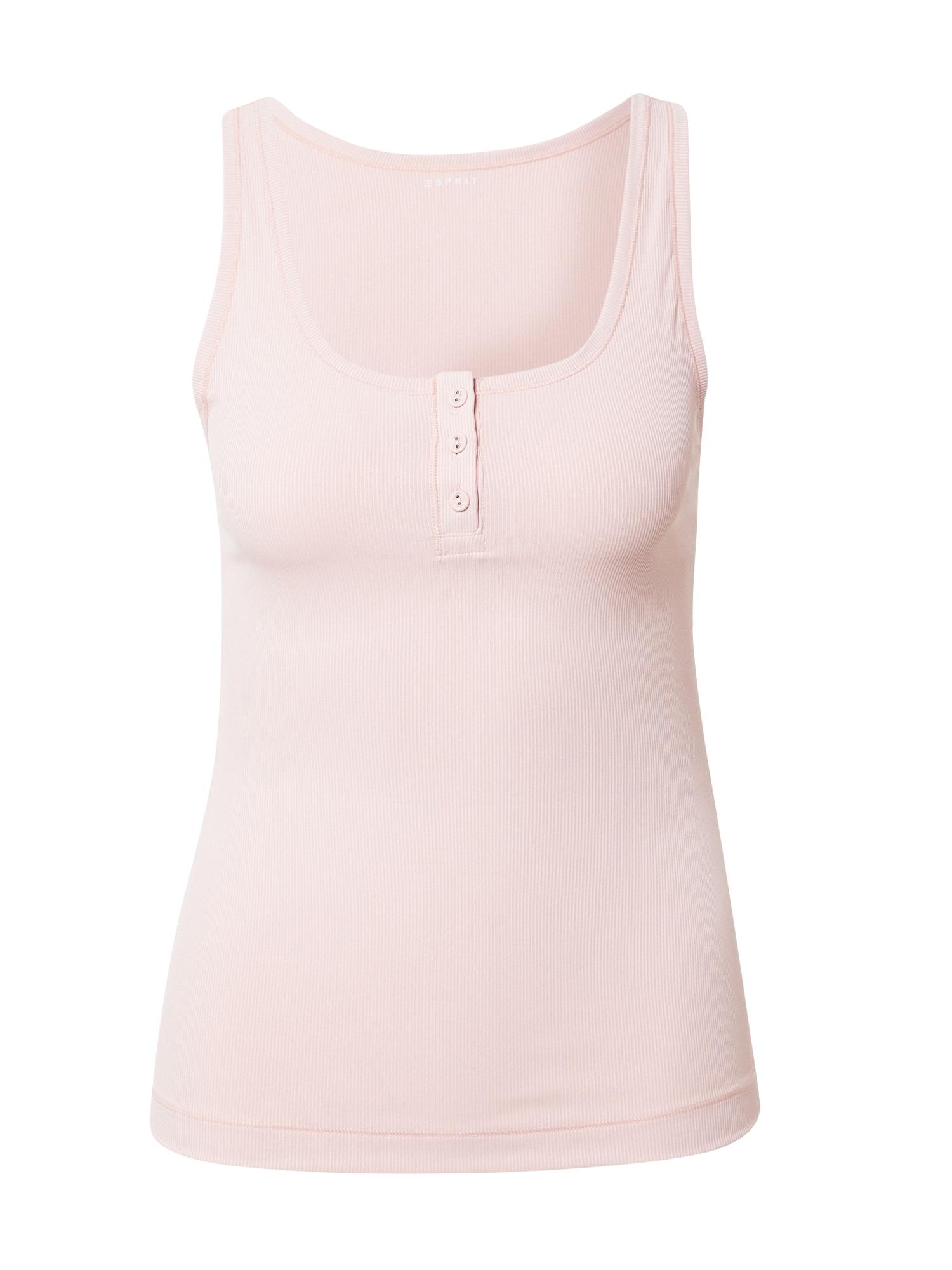 ESPRIT Apatiniai marškinėliai pastelinė rožinė