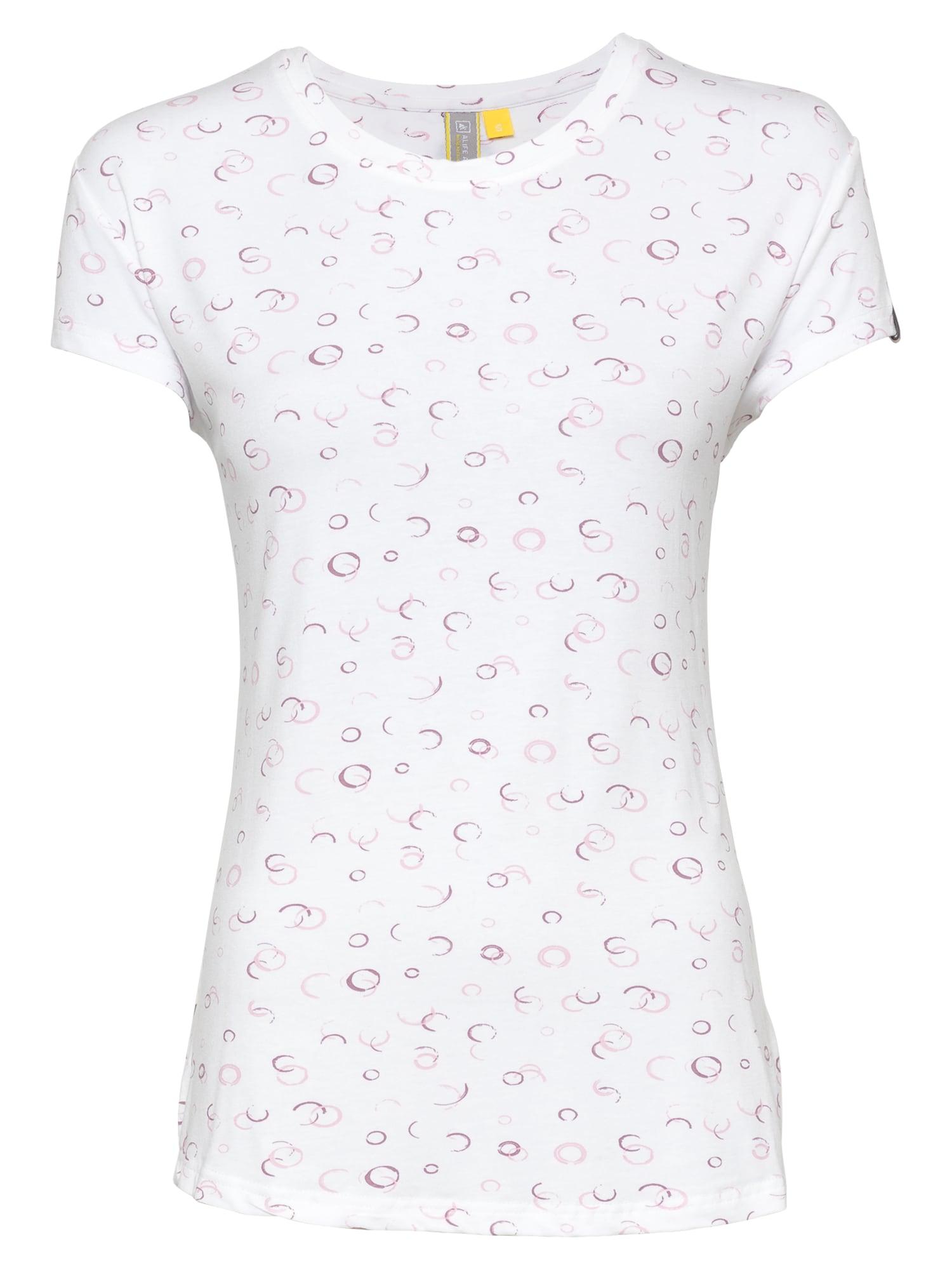 Alife and Kickin Marškinėliai balta / šviesiai rožinė / tamsiai violetinė