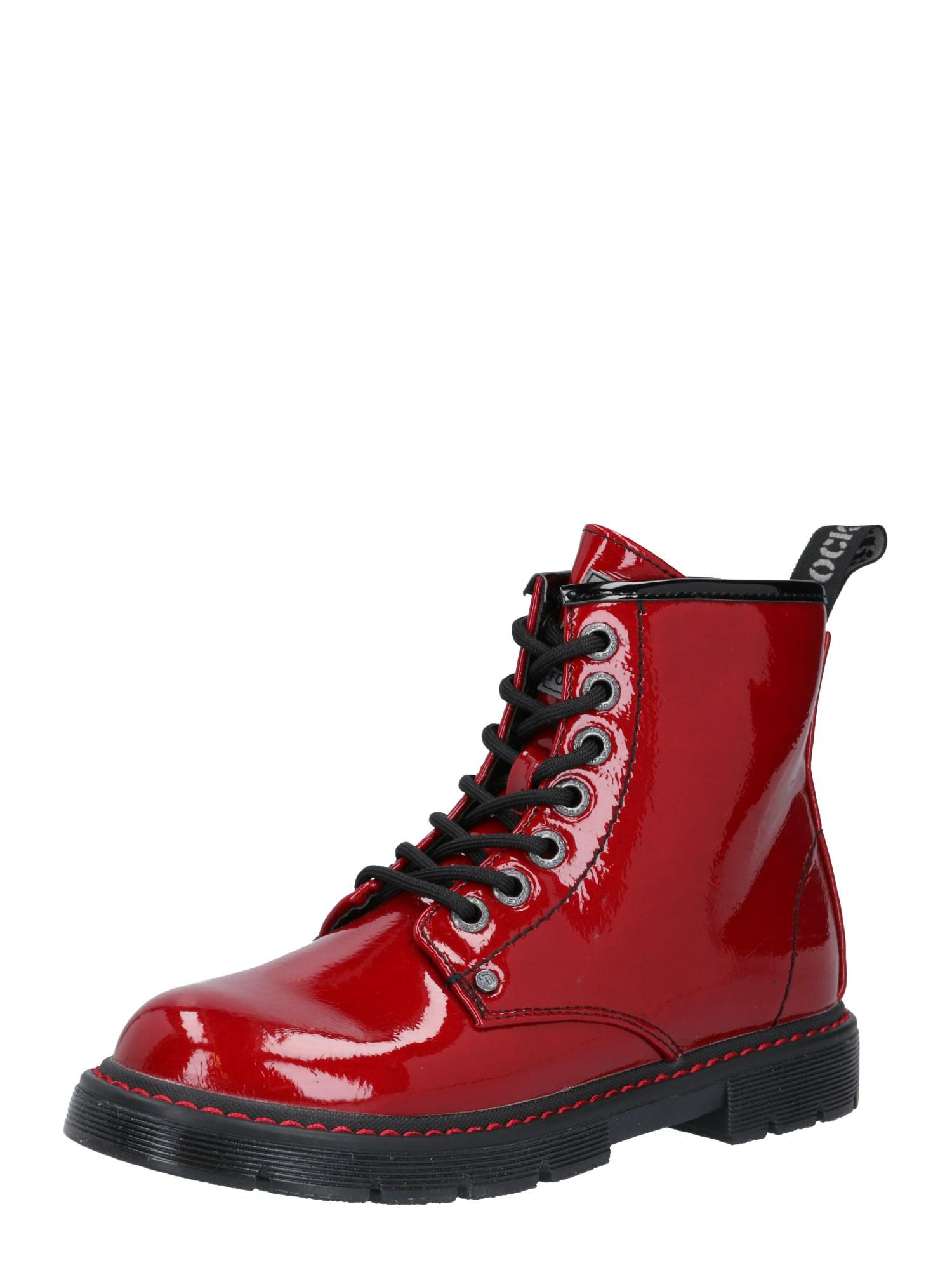 Dockers by Gerli Auliniai batai su kulniuku juoda / karmino raudona