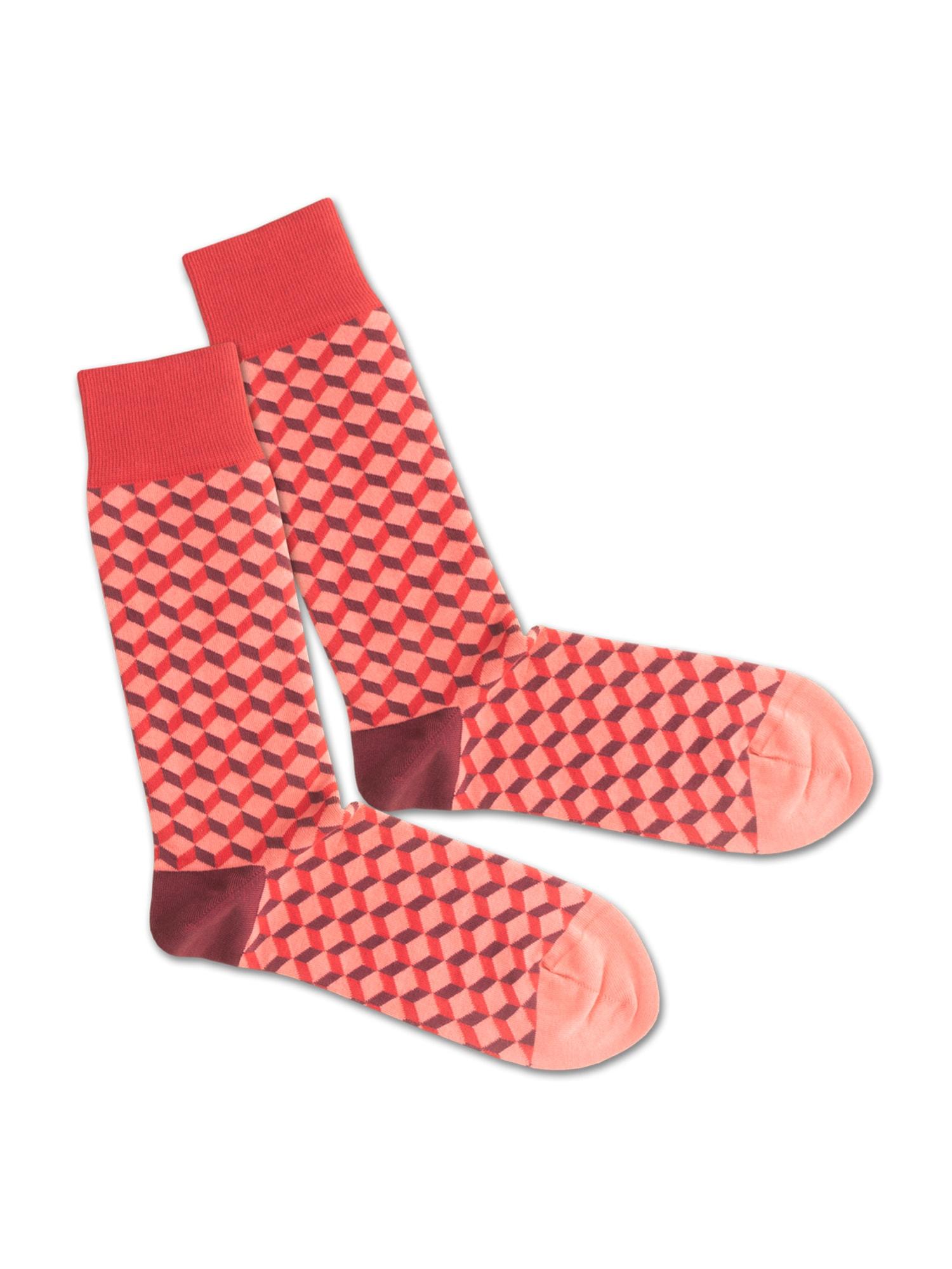 DillySocks Ponožky 'SS20-24 Coral Dice'  červená / korálová