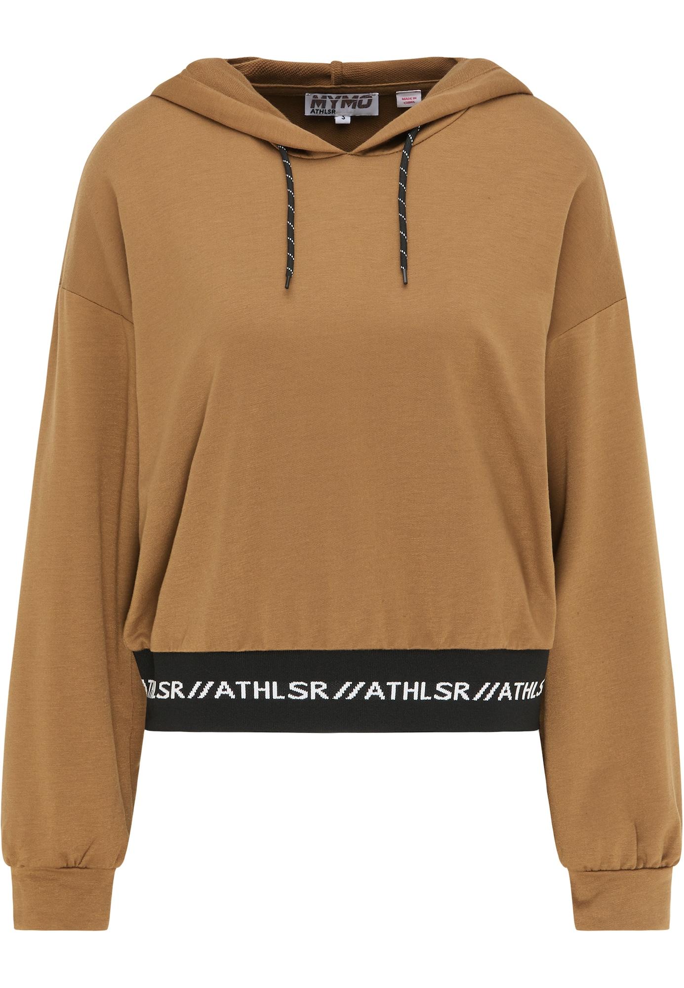 myMo ATHLSR Sportinio tipo megztinis ruda / juoda / balta