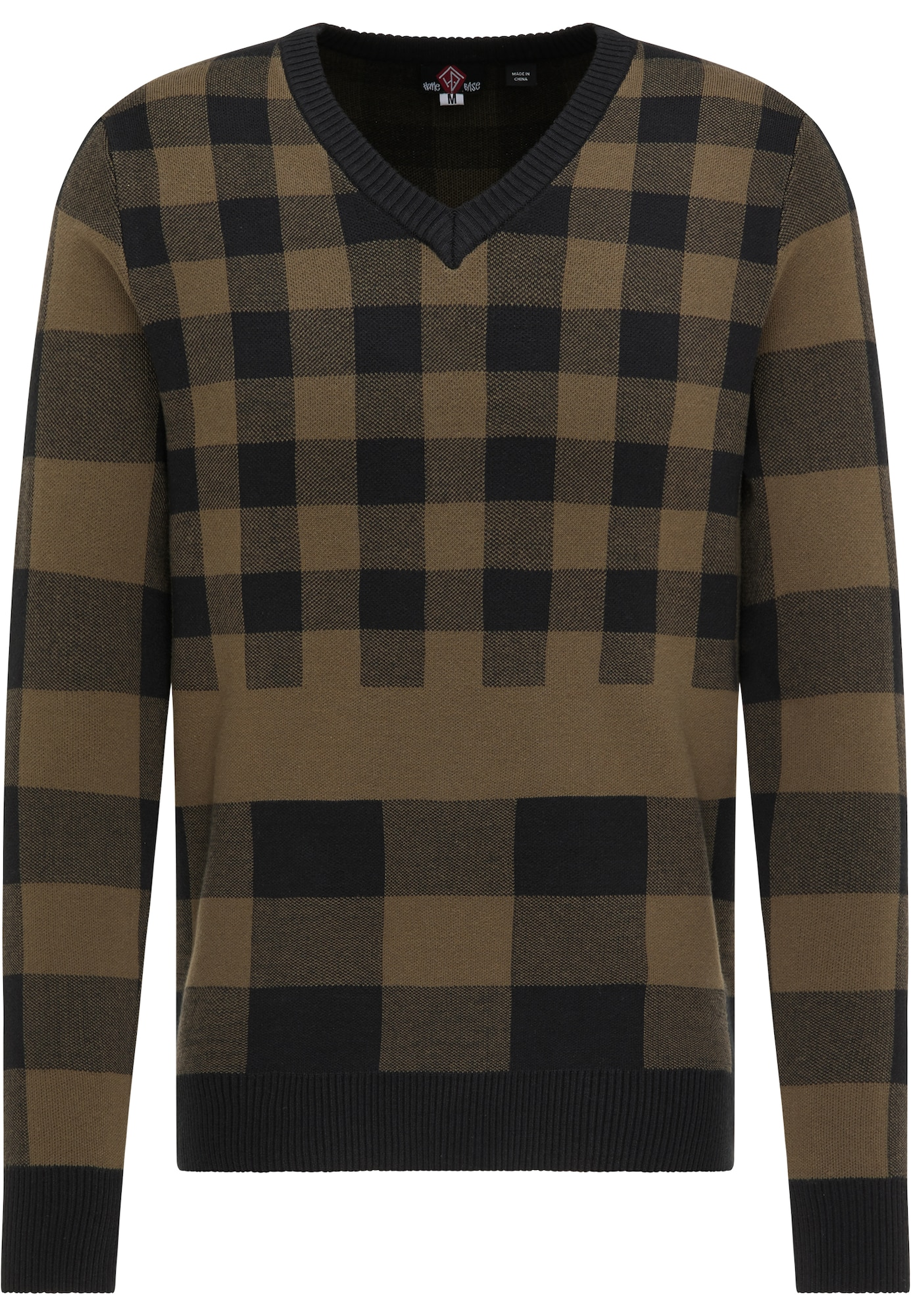 HOMEBASE Megztinis juoda / ruda