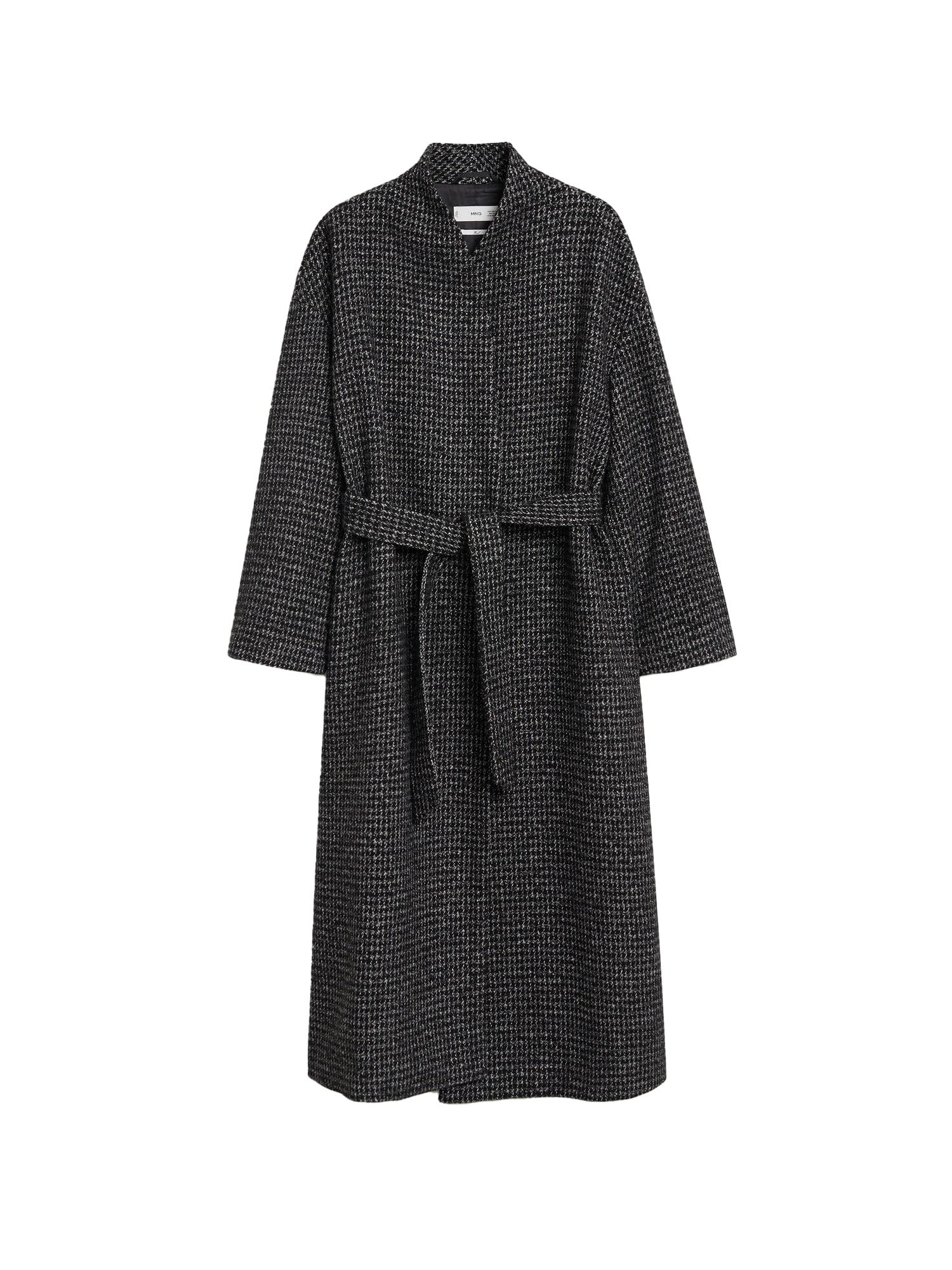 MANGO Přechodný kabát 'Abrigo Madame'  tmavě modrá / bílá