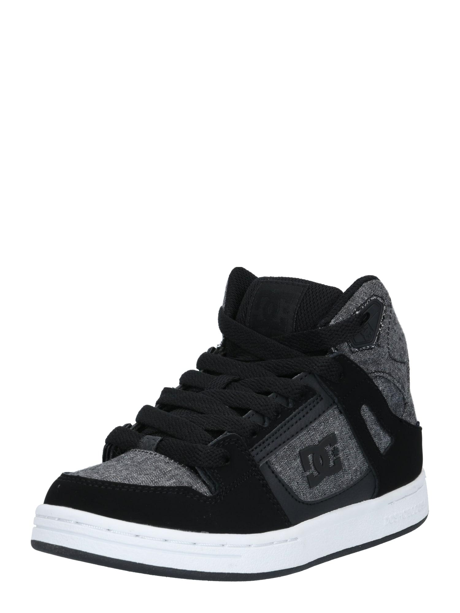 DC Shoes Sportiniai batai pilka / juoda / tamsiai pilka / balta