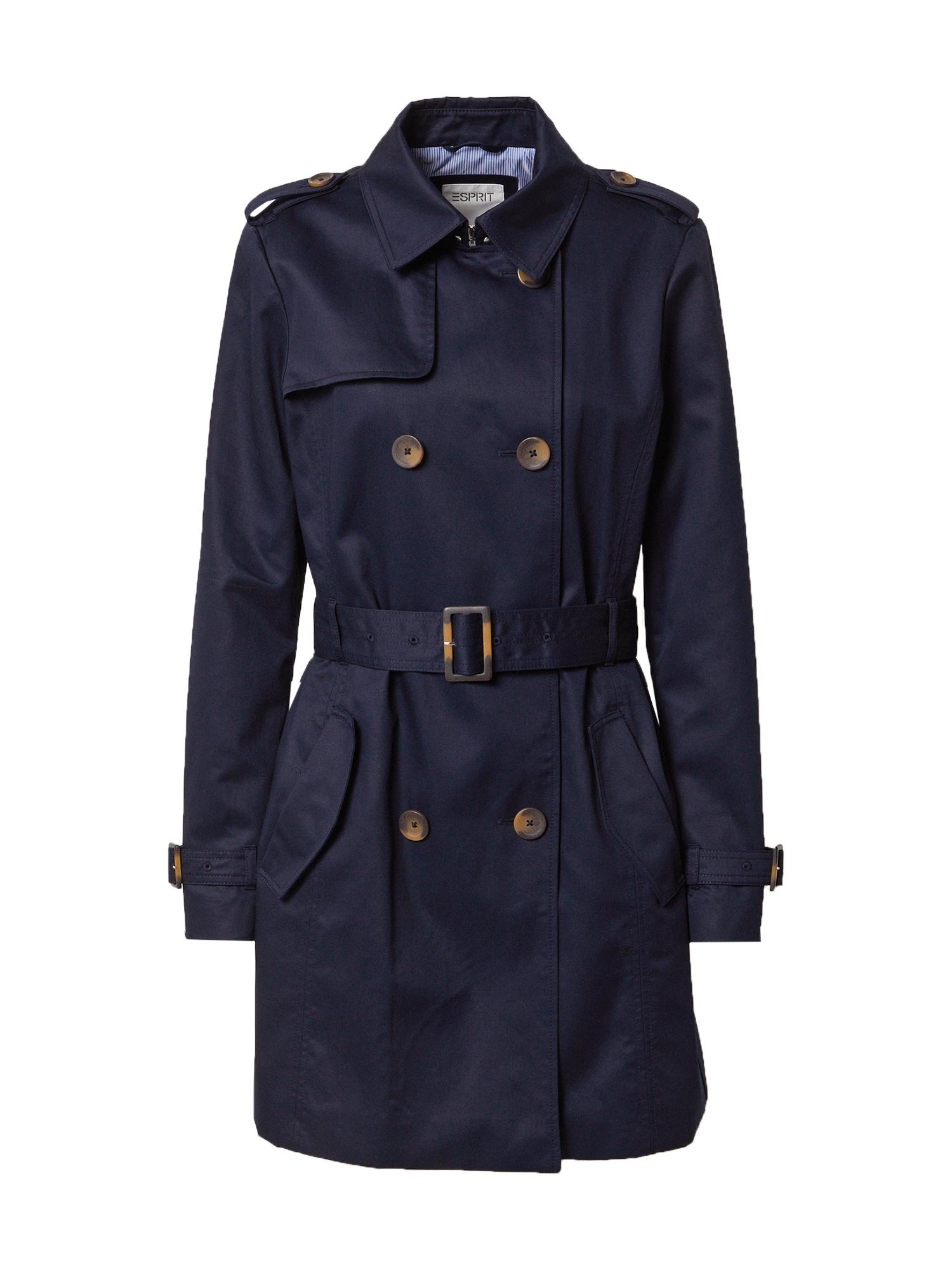 ESPRIT Demisezoninis paltas tamsiai mėlyna