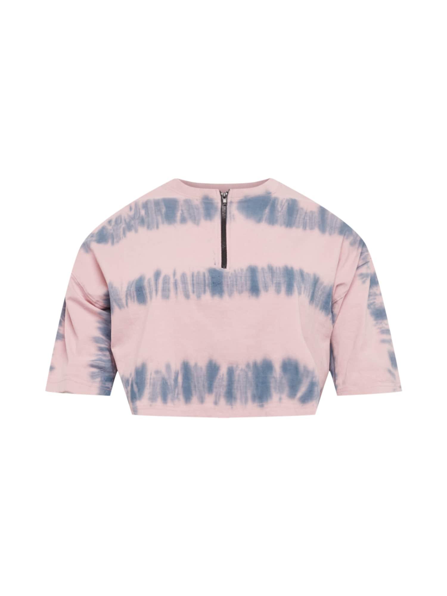 Public Desire Curve Marškinėliai šviesiai rožinė / mėlyna