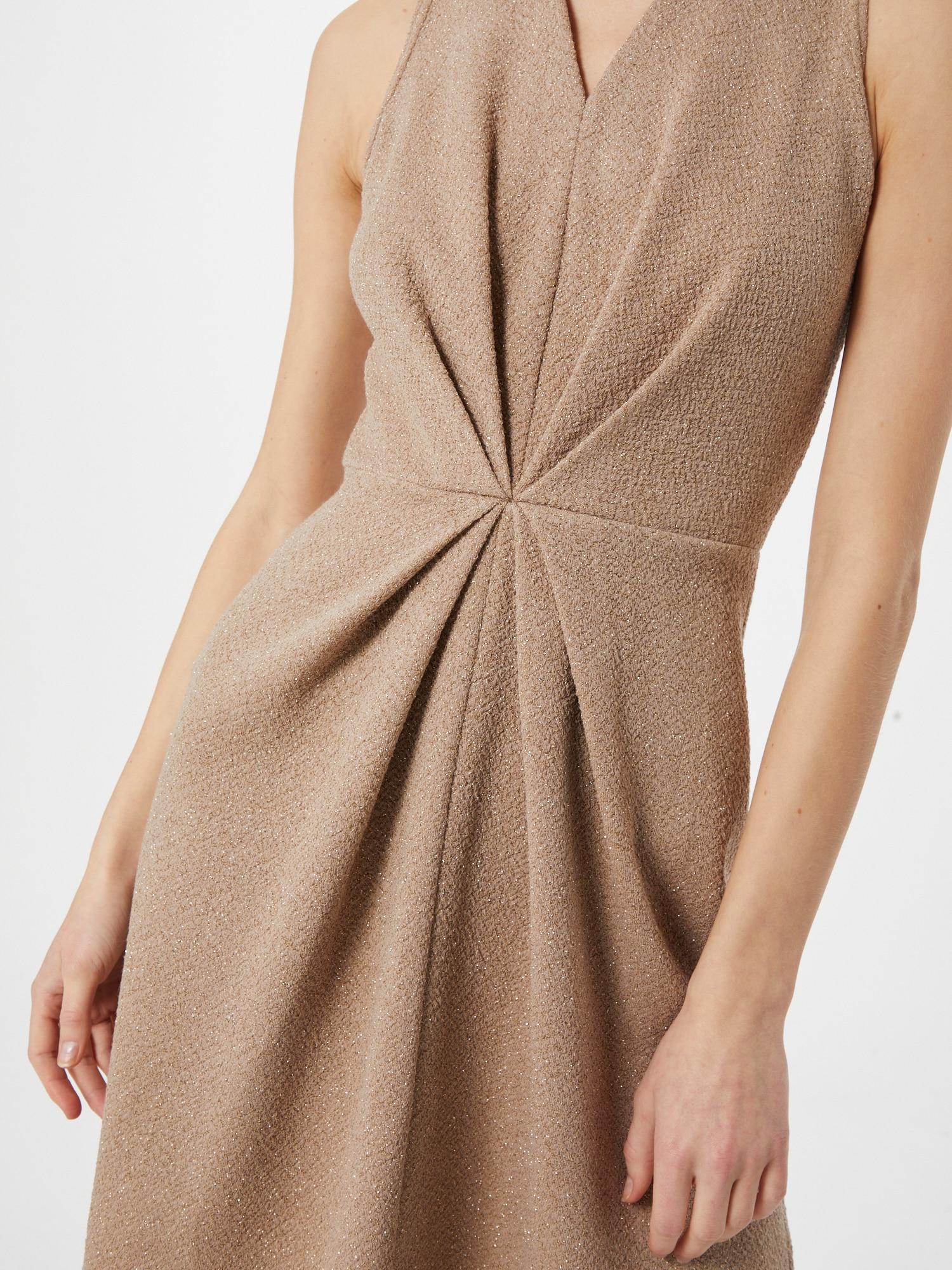 Closet London Kokteilové šaty  piesková.