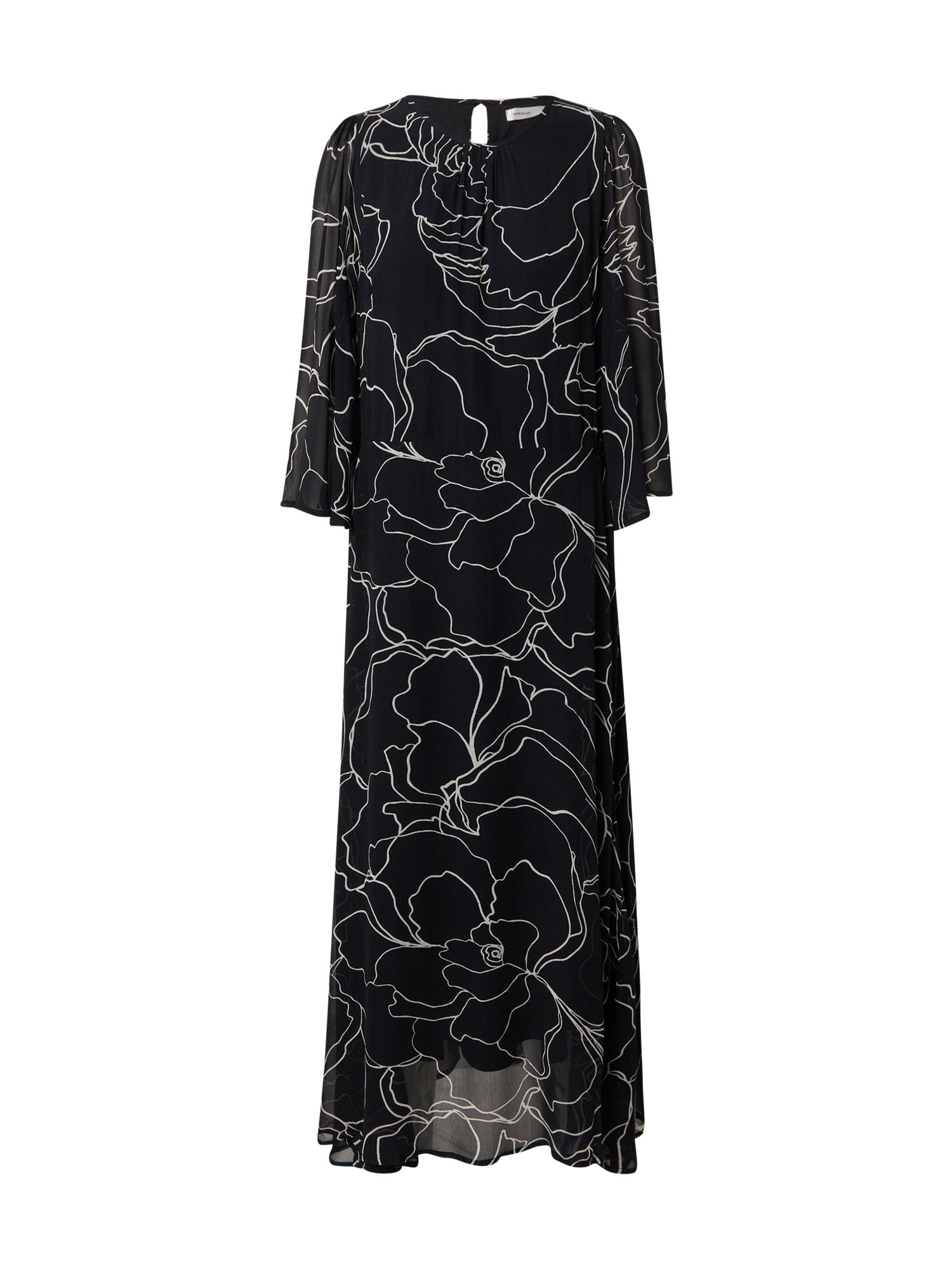InWear Suknelė juoda / balta