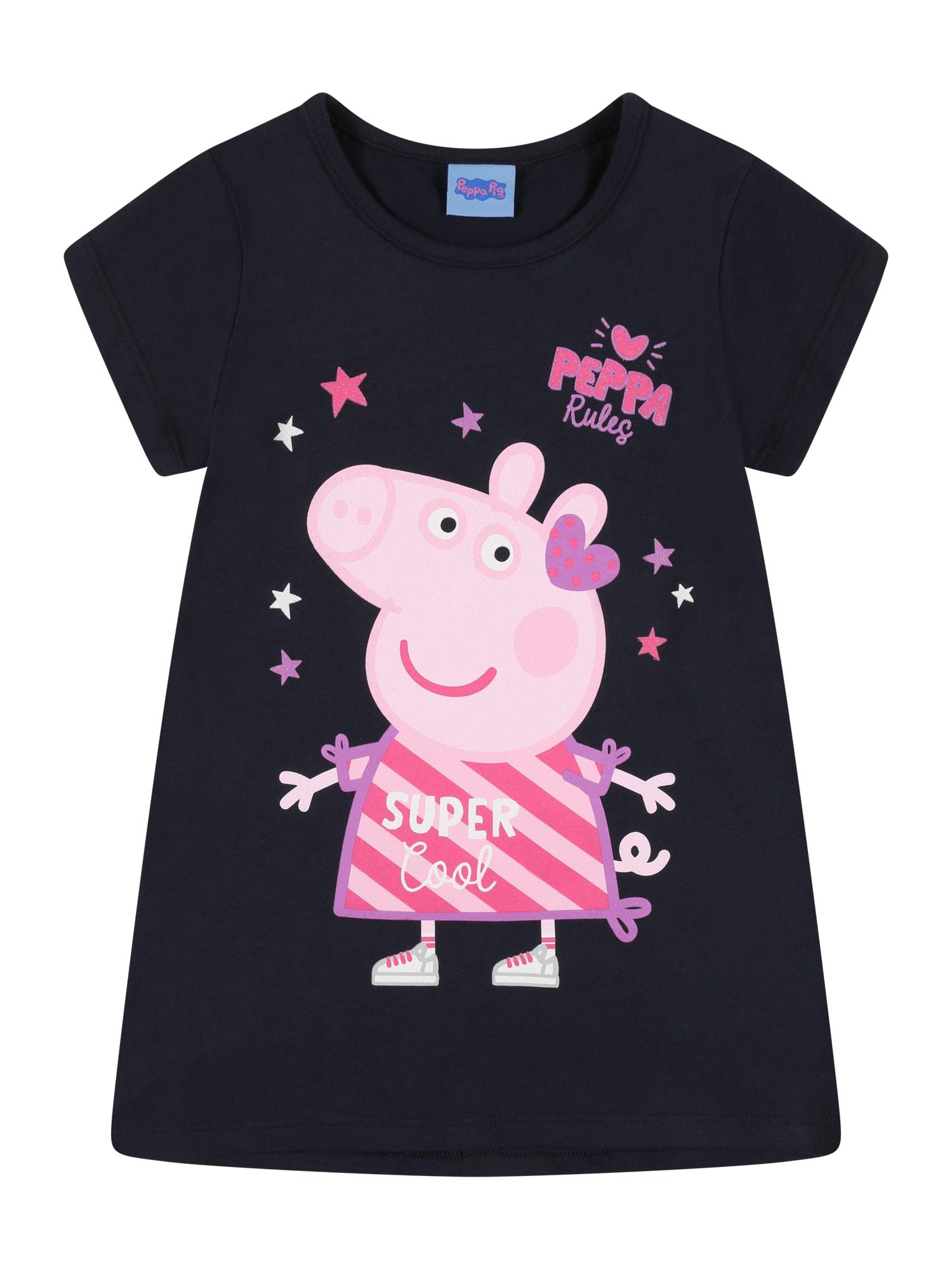 Peppa Pig Marškinėliai tamsiai mėlyna / rožių spalva / šviesiai violetinė / rožinė