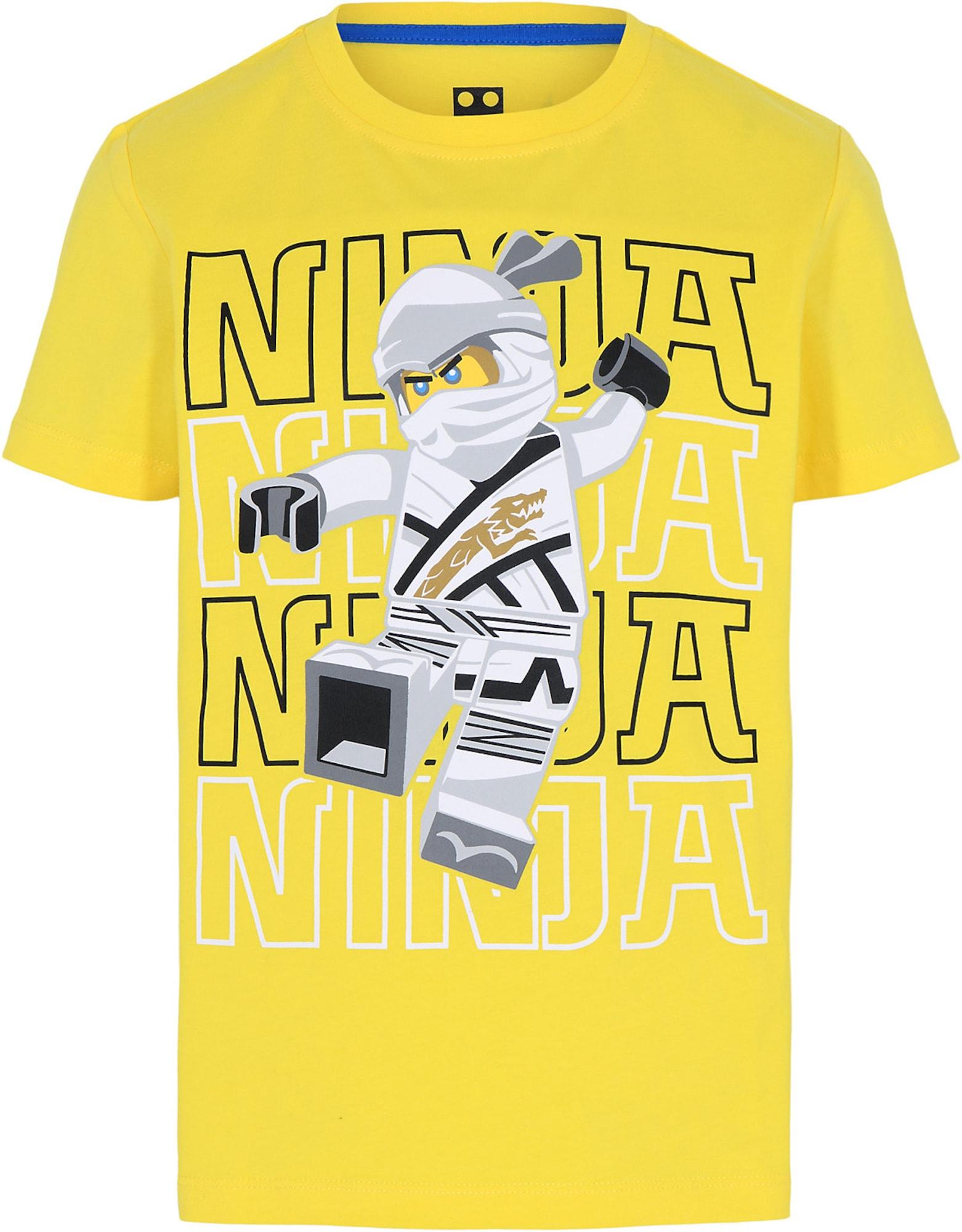 LEGO WEAR Marškinėliai geltona / juoda / balta / pilka / citrinos spalva