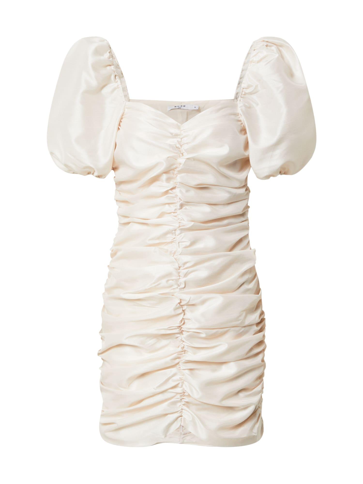 NA-KD Kokteilinė suknelė gelsvai pilka spalva