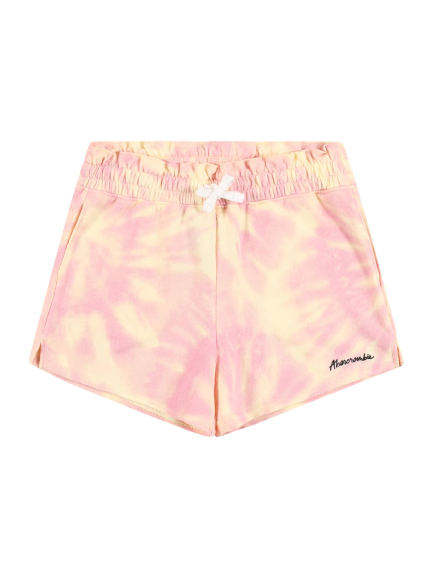 Abercrombie & Fitch Kelnės geltona / šviesiai rožinė
