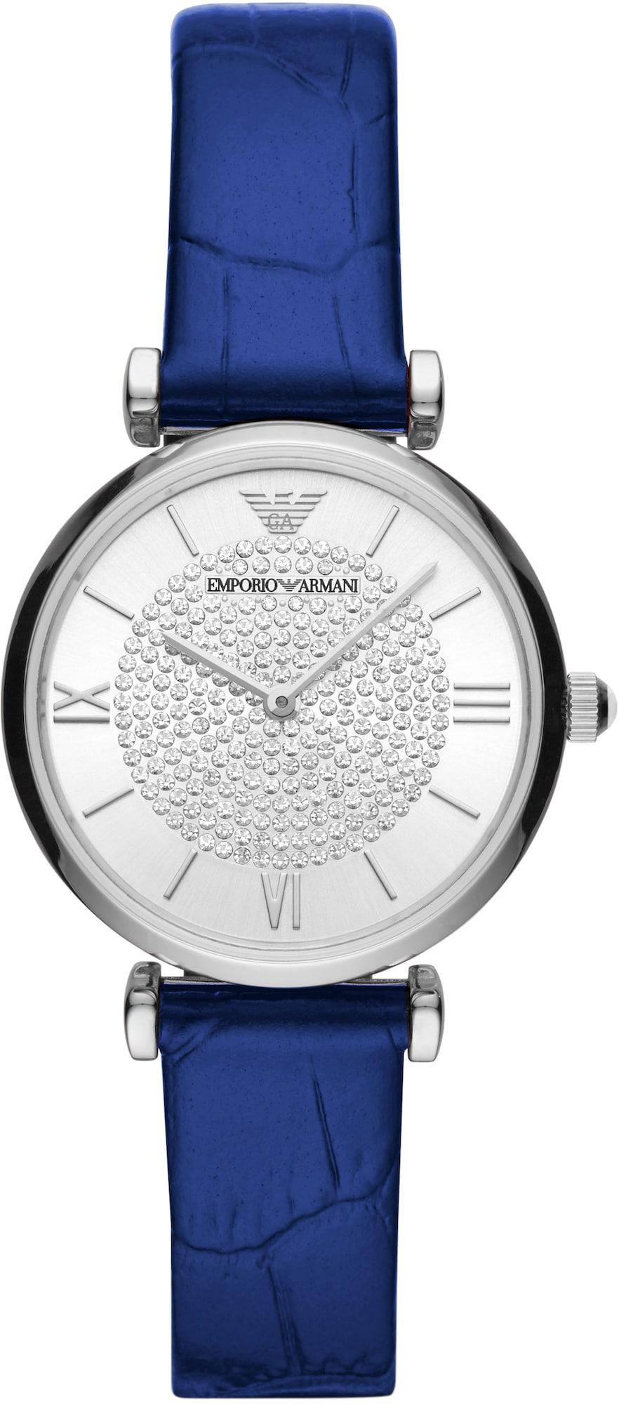 Emporio Armani Analoginis (įprasto dizaino) laikrodis tamsiai mėlyna / juoda / sidabrinė
