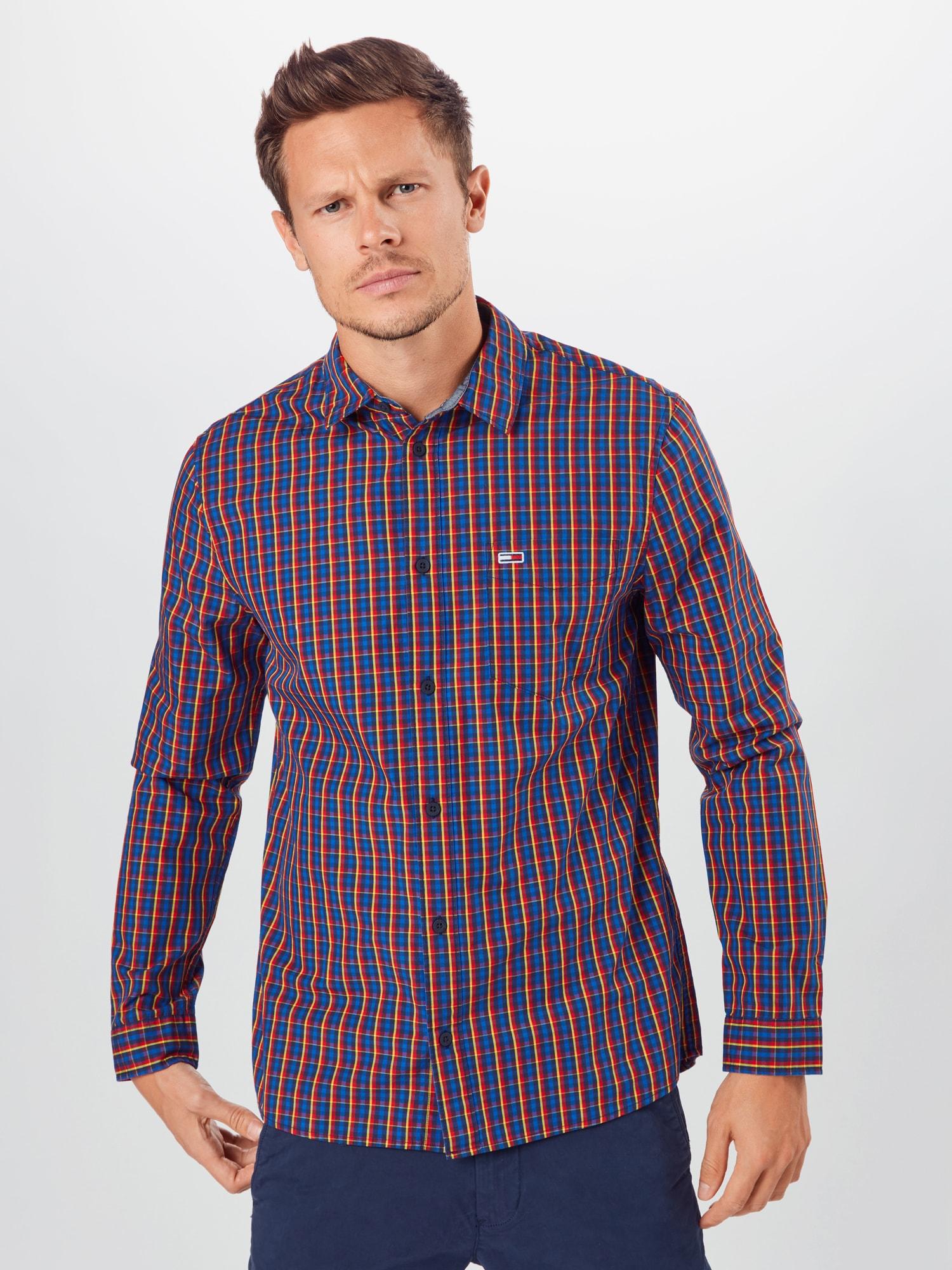 Tommy Jeans Skjorta  marinblå / blandade färger