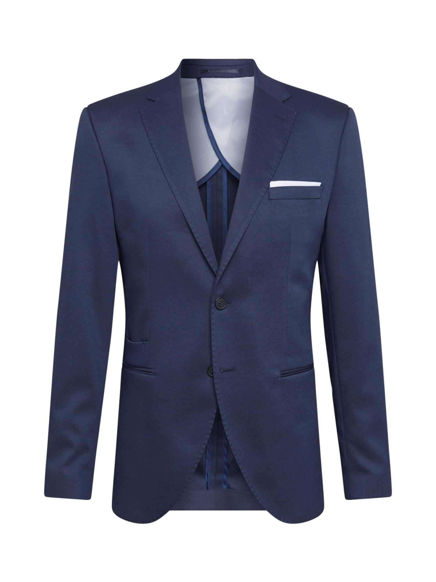 SELECTED HOMME Dalykinio stiliaus švarkas tamsiai mėlyna / balta