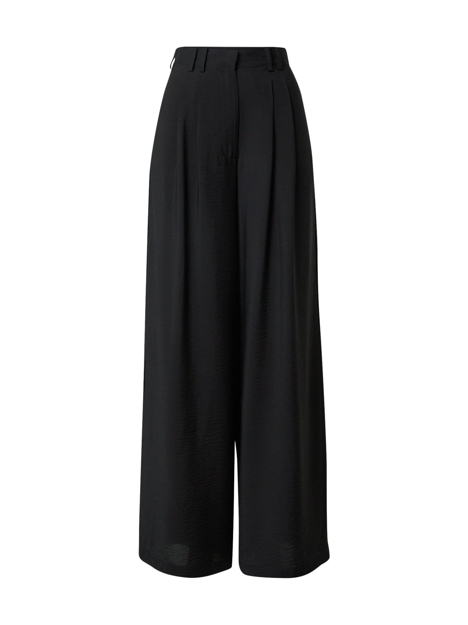 Guido Maria Kretschmer Collection Kalhoty se sklady v pase 'Finja'  černá