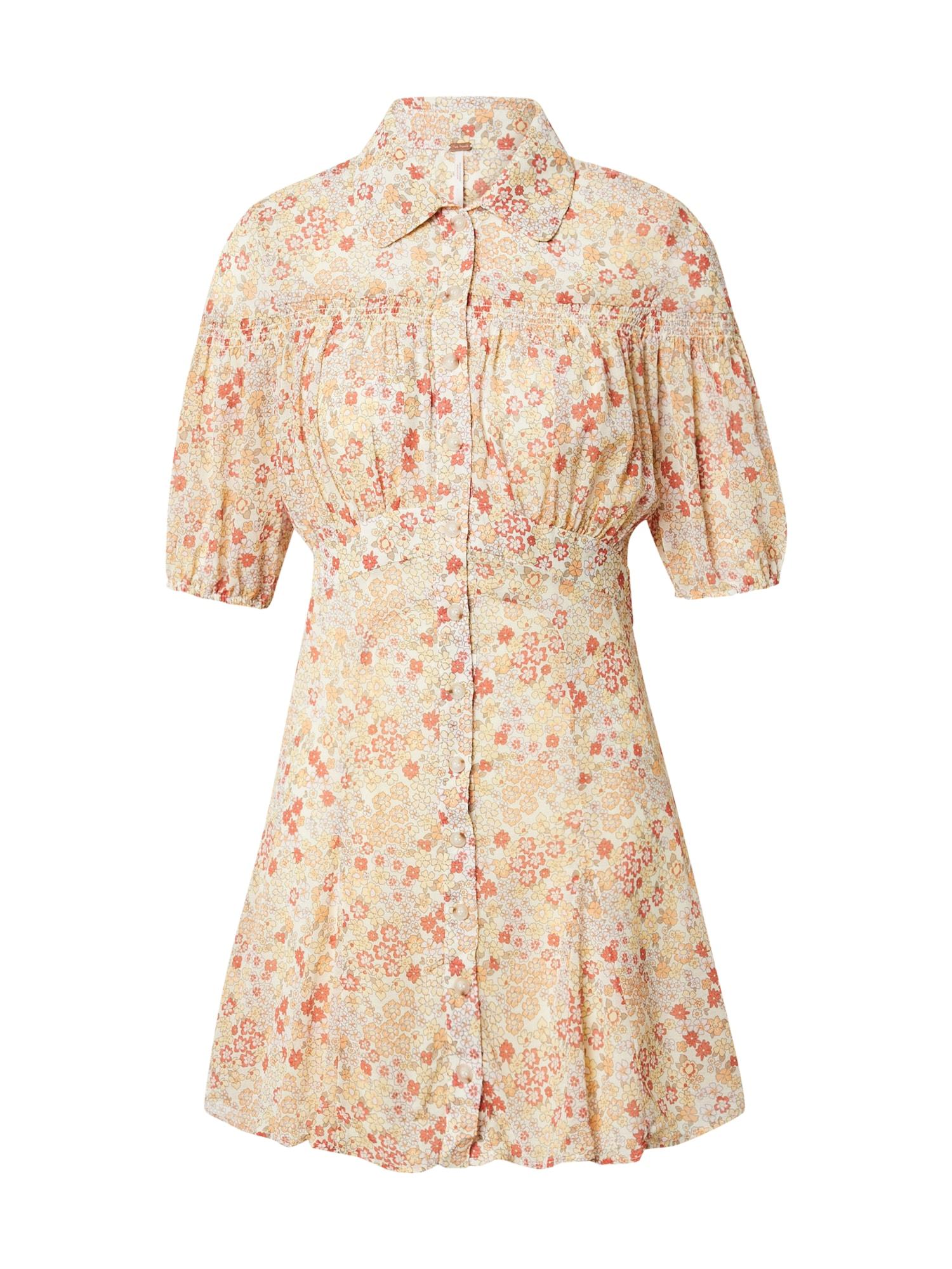 Free People Košilové šaty 'BONNIE'  mix barev / bílá