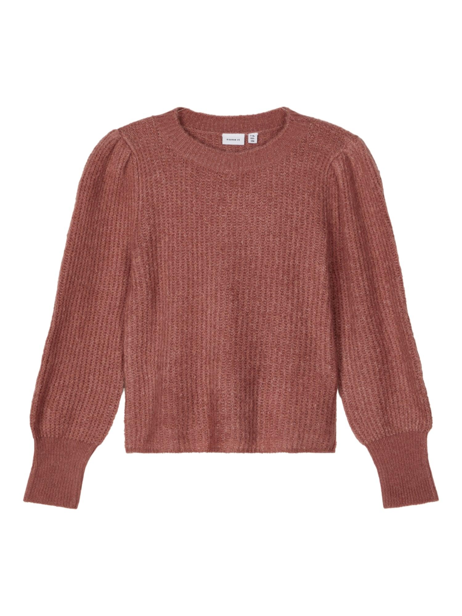 NAME IT Megztinis ryškiai rožinė spalva