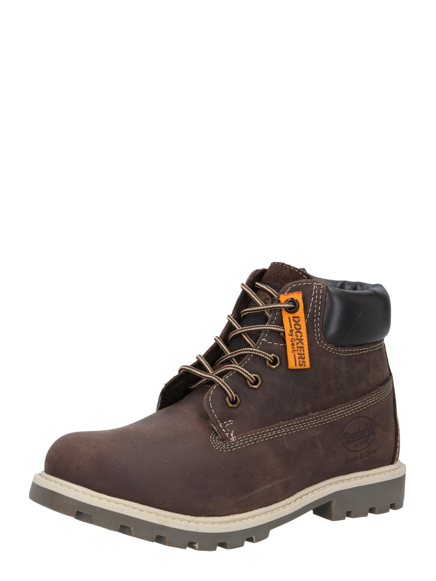 Dockers by Gerli Auliniai batai su kulniuku tamsiai ruda / kaštoninė spalva