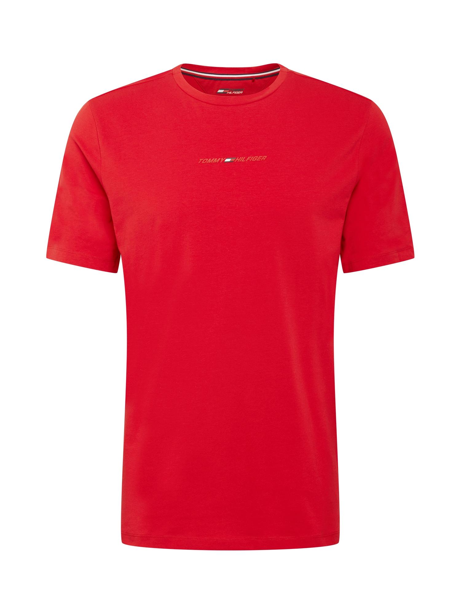 Tommy Sport Sportiniai marškinėliai balta / tamsiai mėlyna / granatų spalva