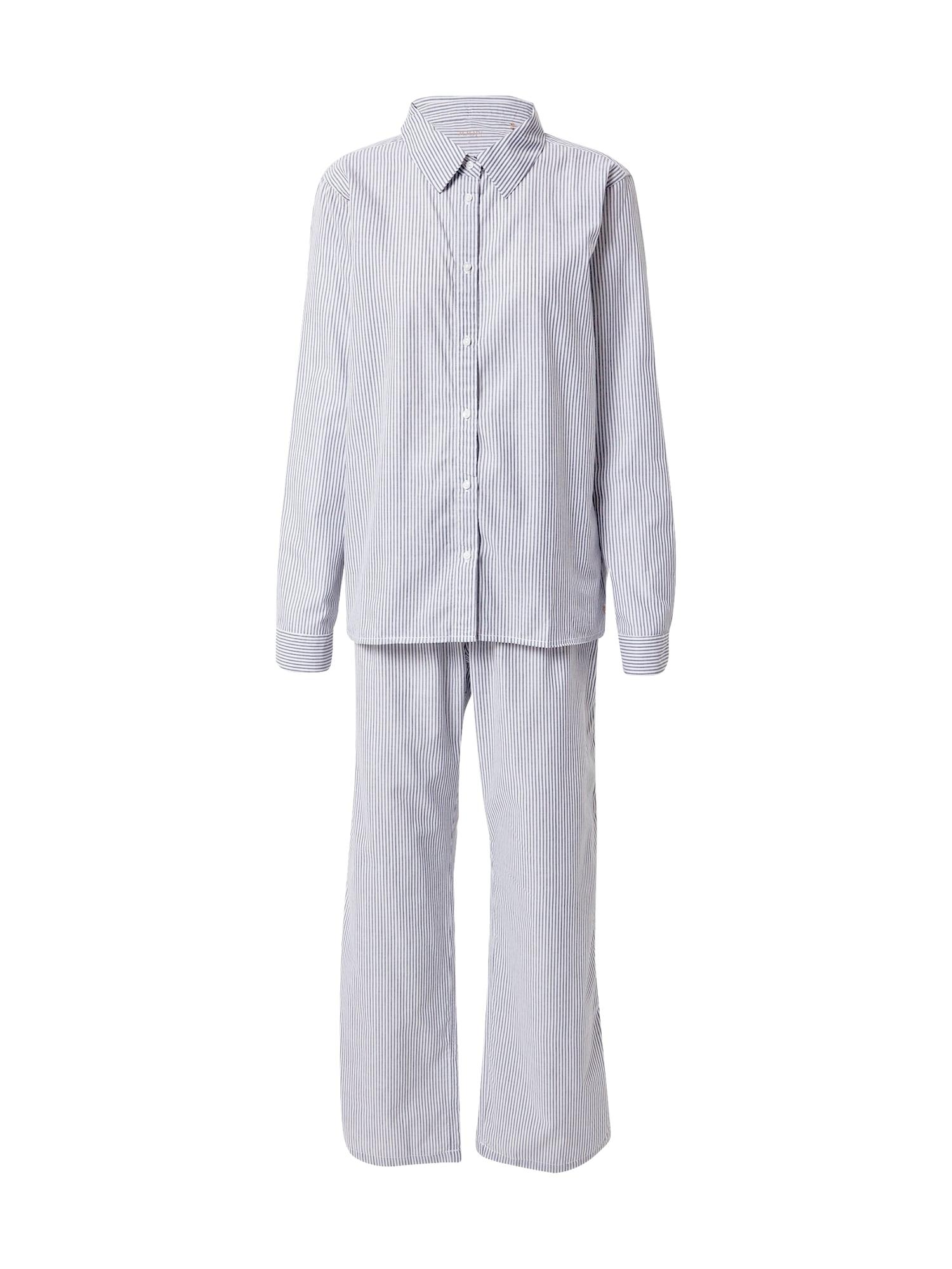 JOOP! Bodywear Pižama balta / mėlyna
