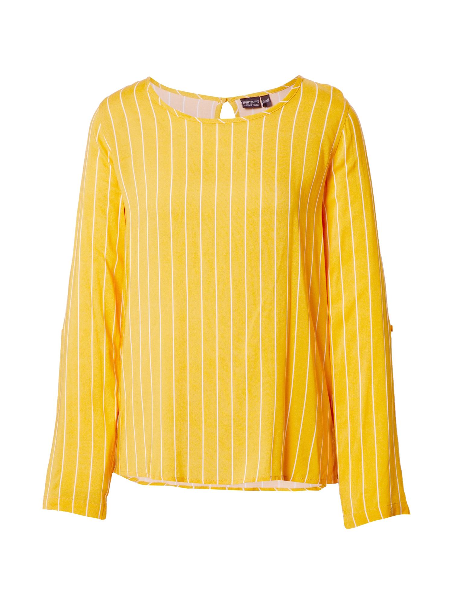 Eight2Nine Marškinėliai balta / geltona