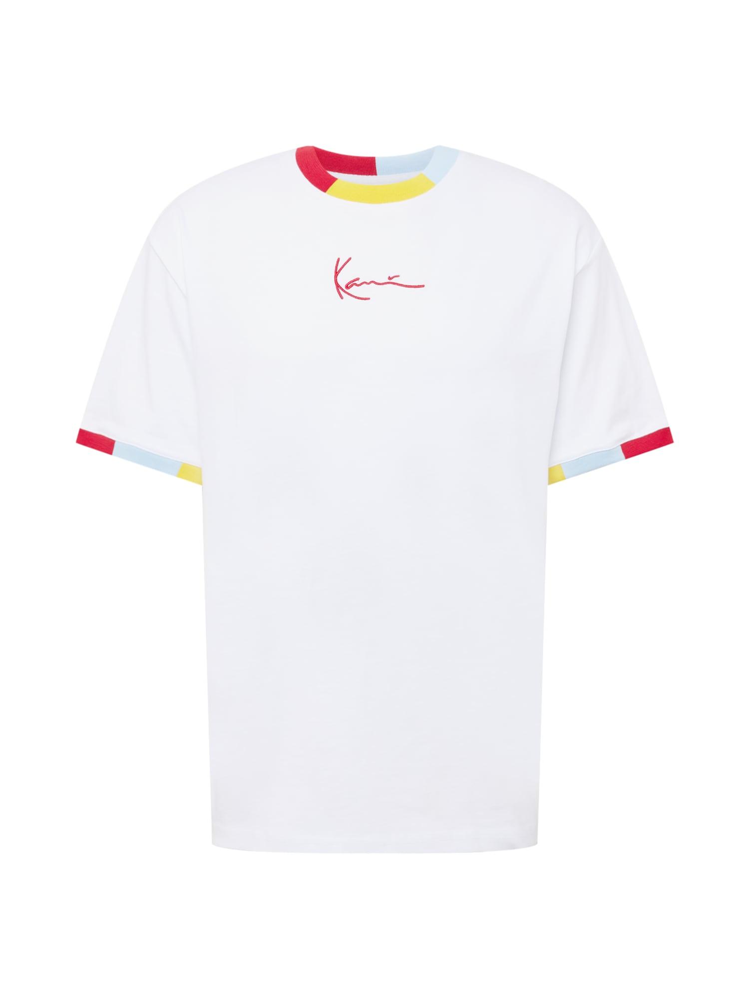 Karl Kani Marškinėliai balta / geltona / spanguolių spalva / šviesiai mėlyna