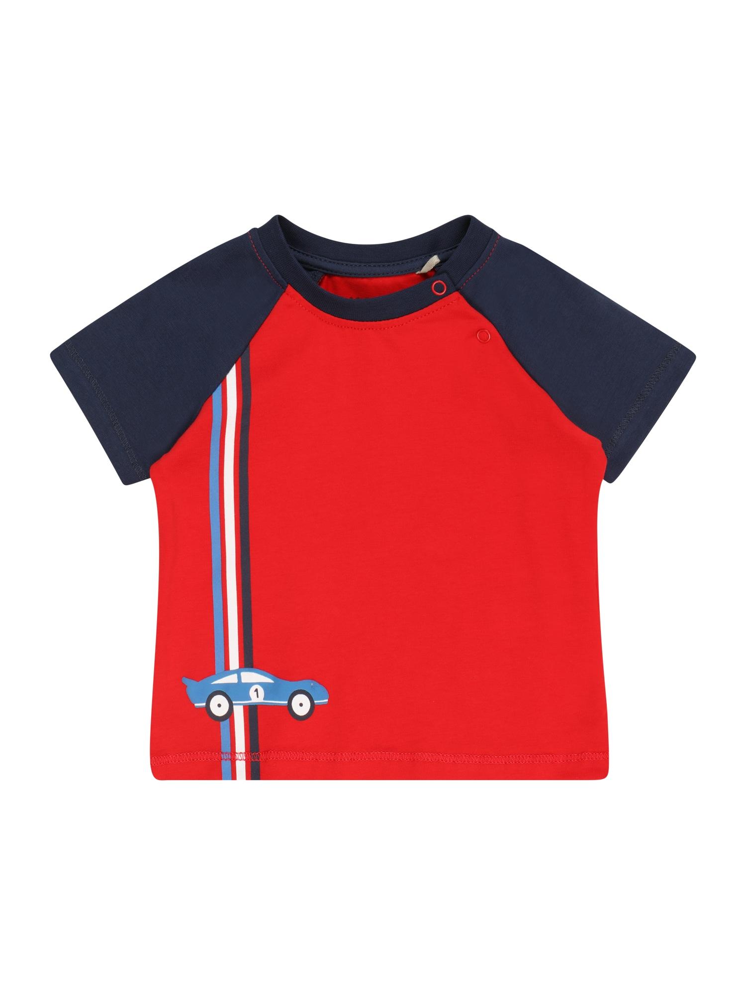 KANZ Tričko  červená / námořnická modř / bílá / kouřově modrá
