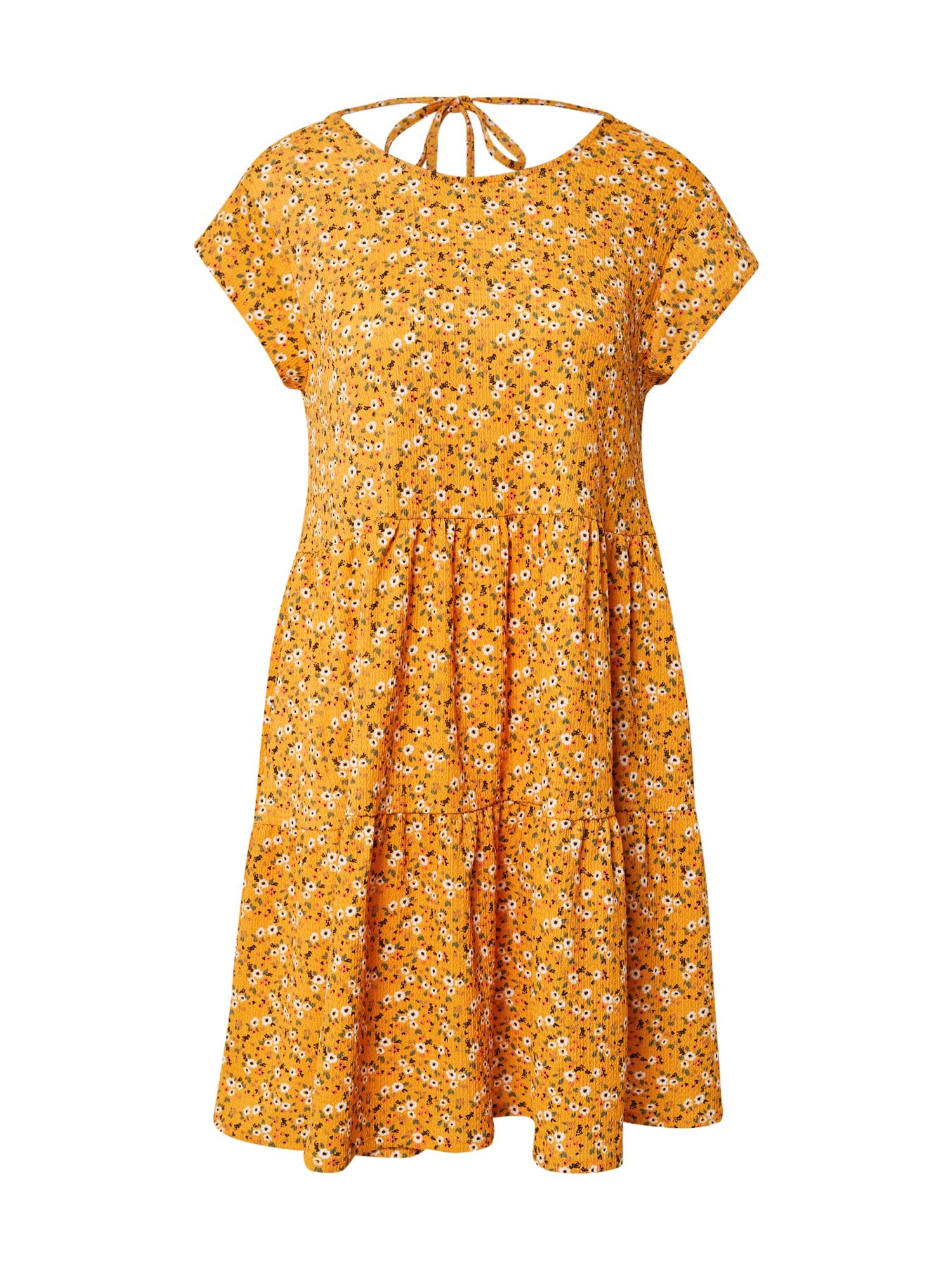 Stitch and Soul Vasarinė suknelė geltona / smėlio / žalia / antracito