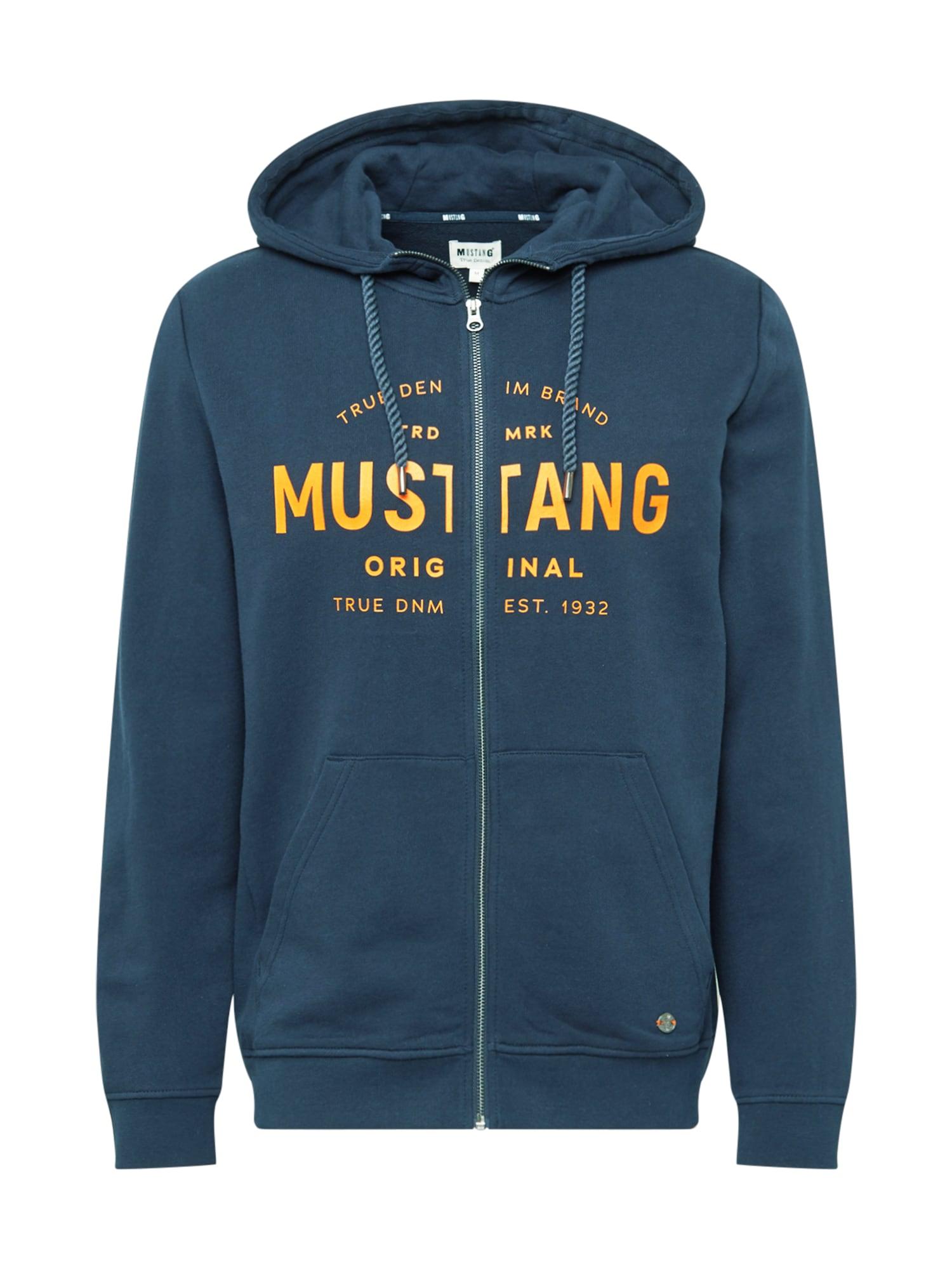 MUSTANG Džemperis nakties mėlyna / oranžinė