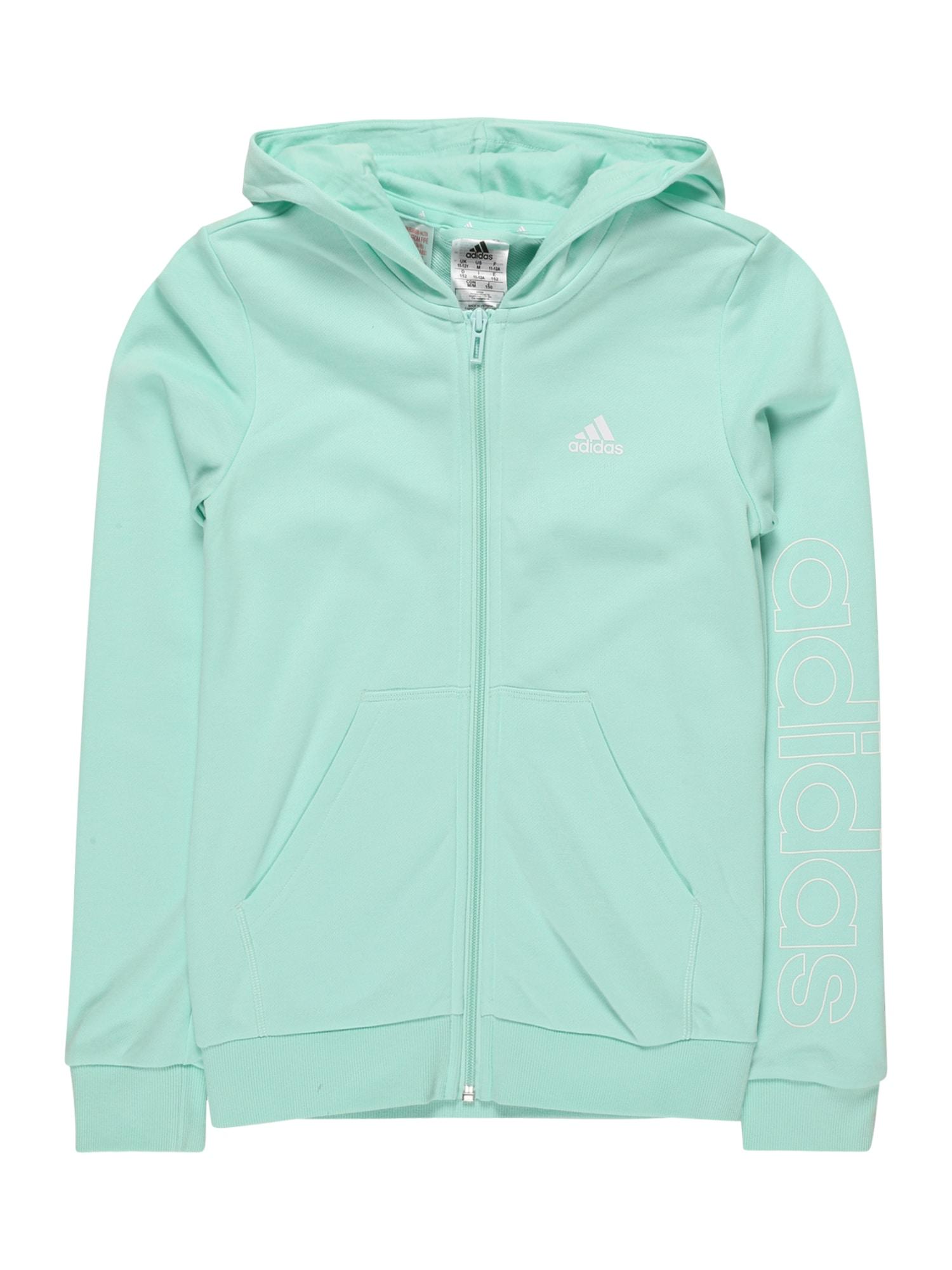 ADIDAS PERFORMANCE Sportinis džemperis turkio spalva / balta