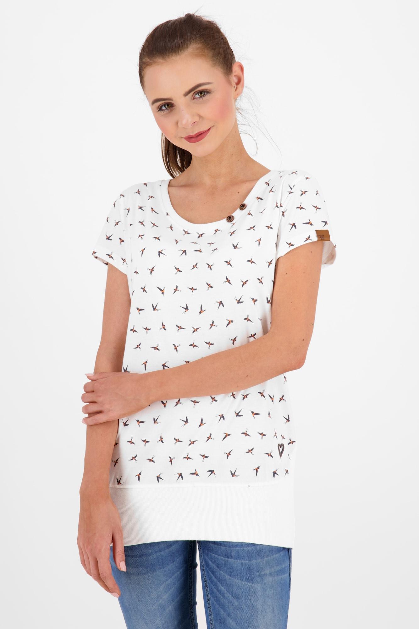 Alife and Kickin Marškinėliai balta / juoda / smėlio spalva