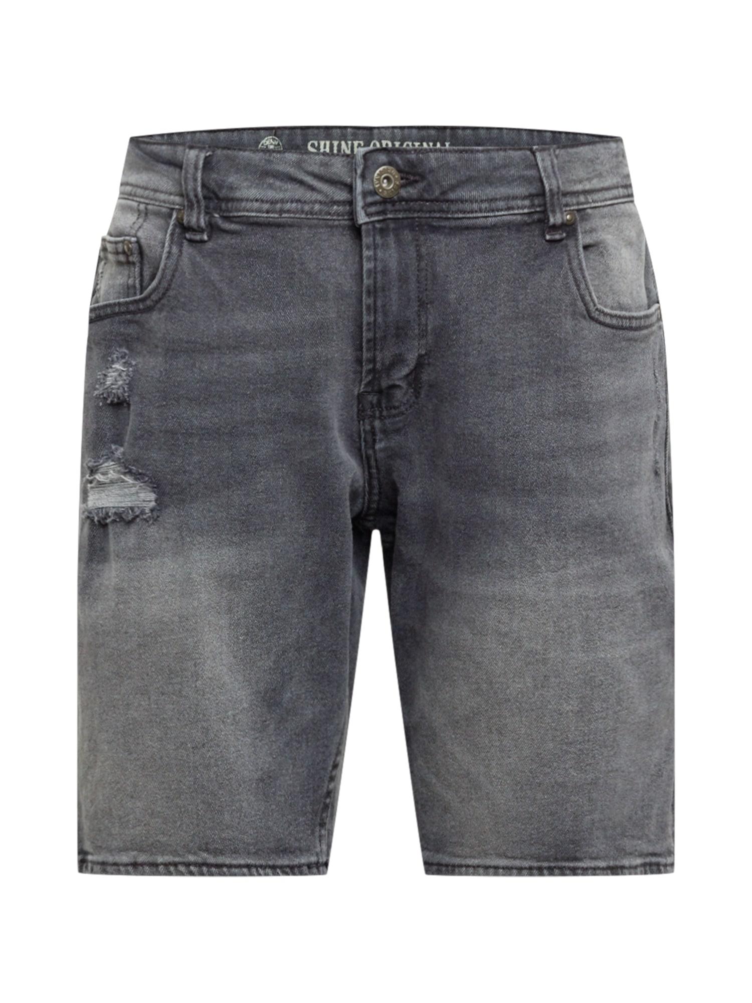 SHINE ORIGINAL Džinsai pilko džinso