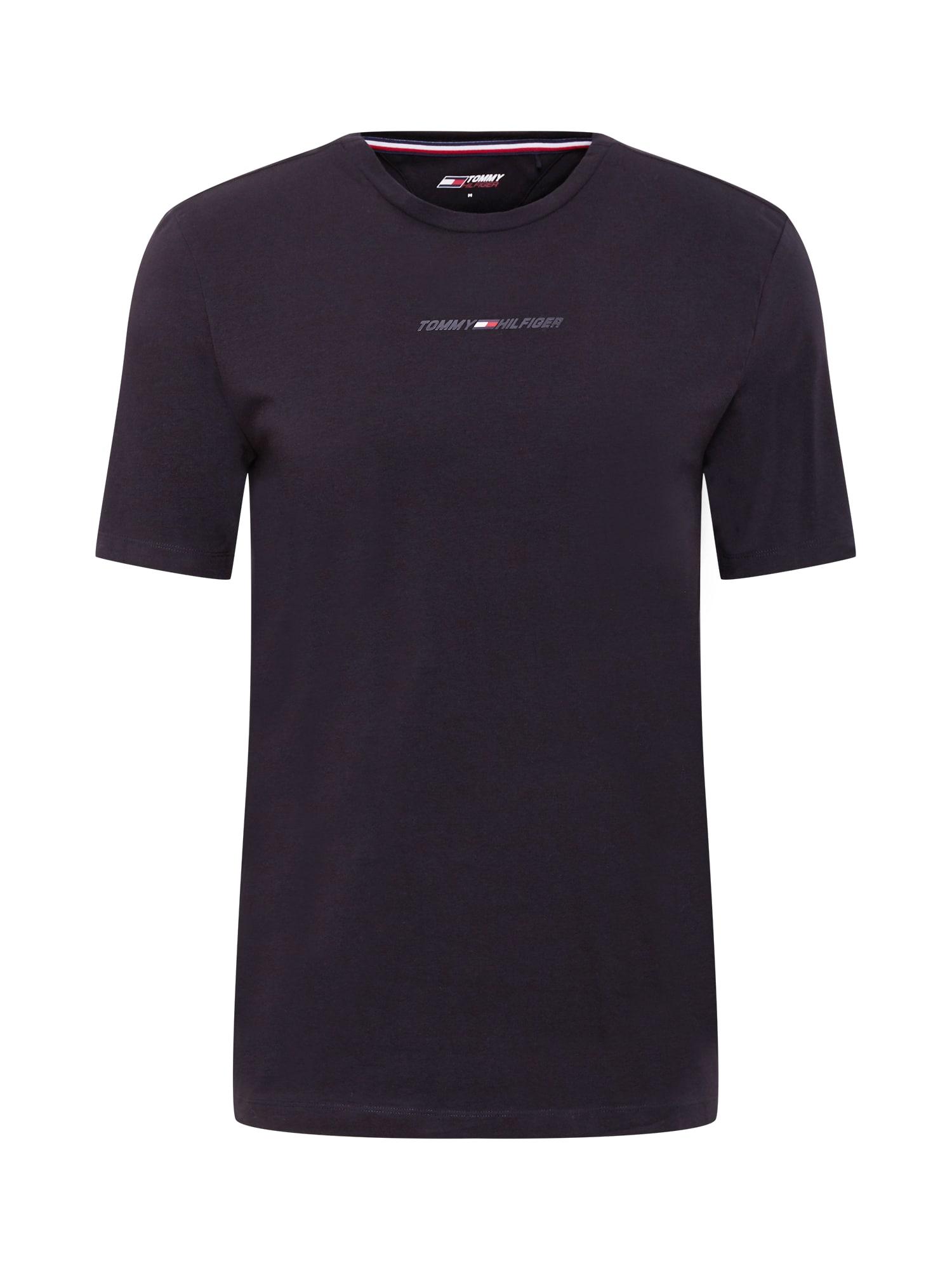 Tommy Sport Sportiniai marškinėliai juoda / balta / raudona / tamsiai mėlyna