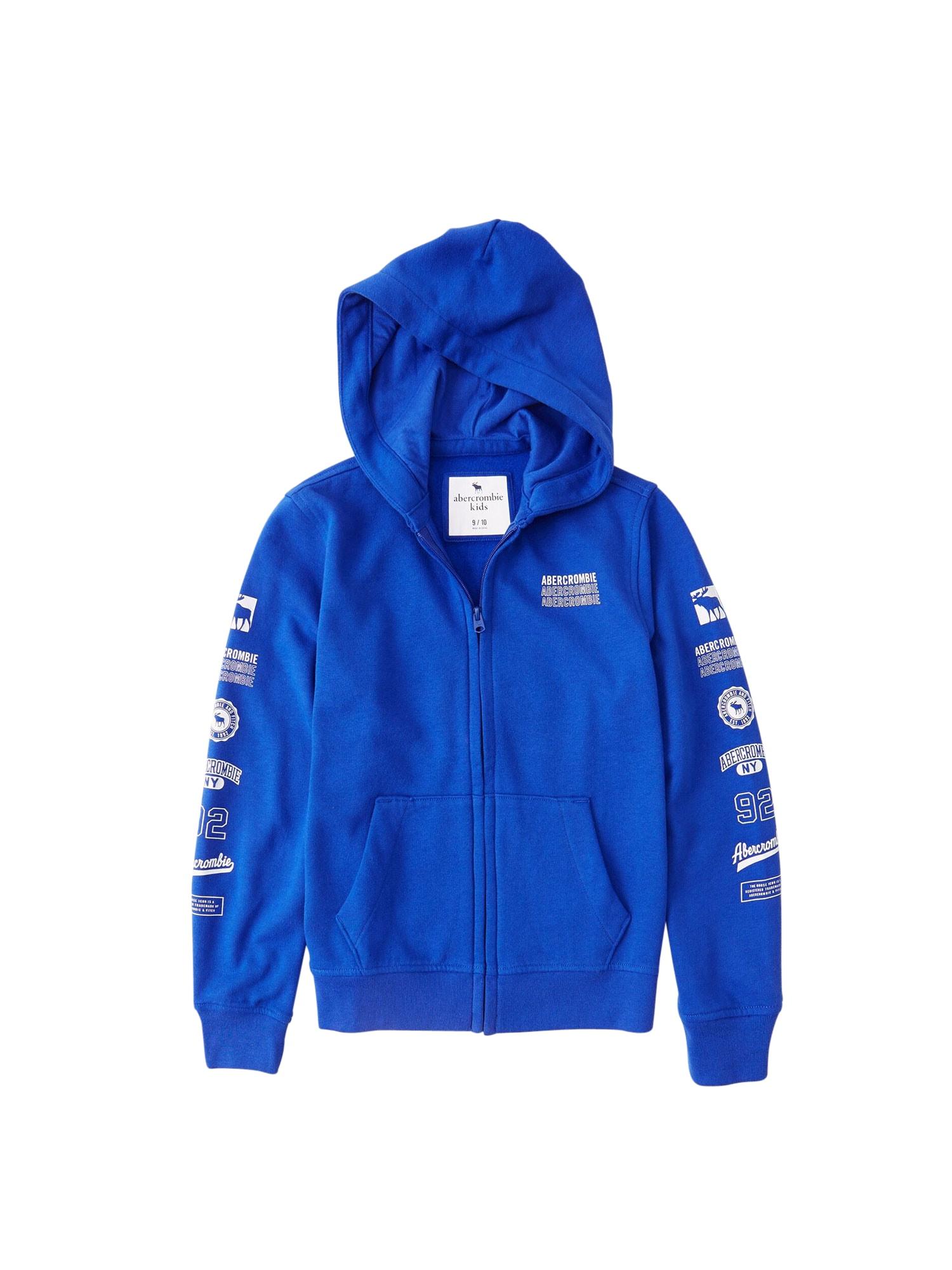 Abercrombie & Fitch Džemperis mėlyna / balta