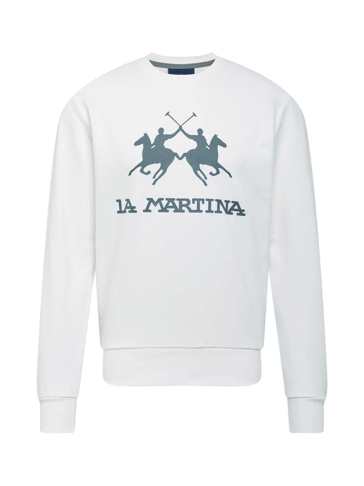 La Martina Megztinis be užsegimo balkšva / bazalto pilka