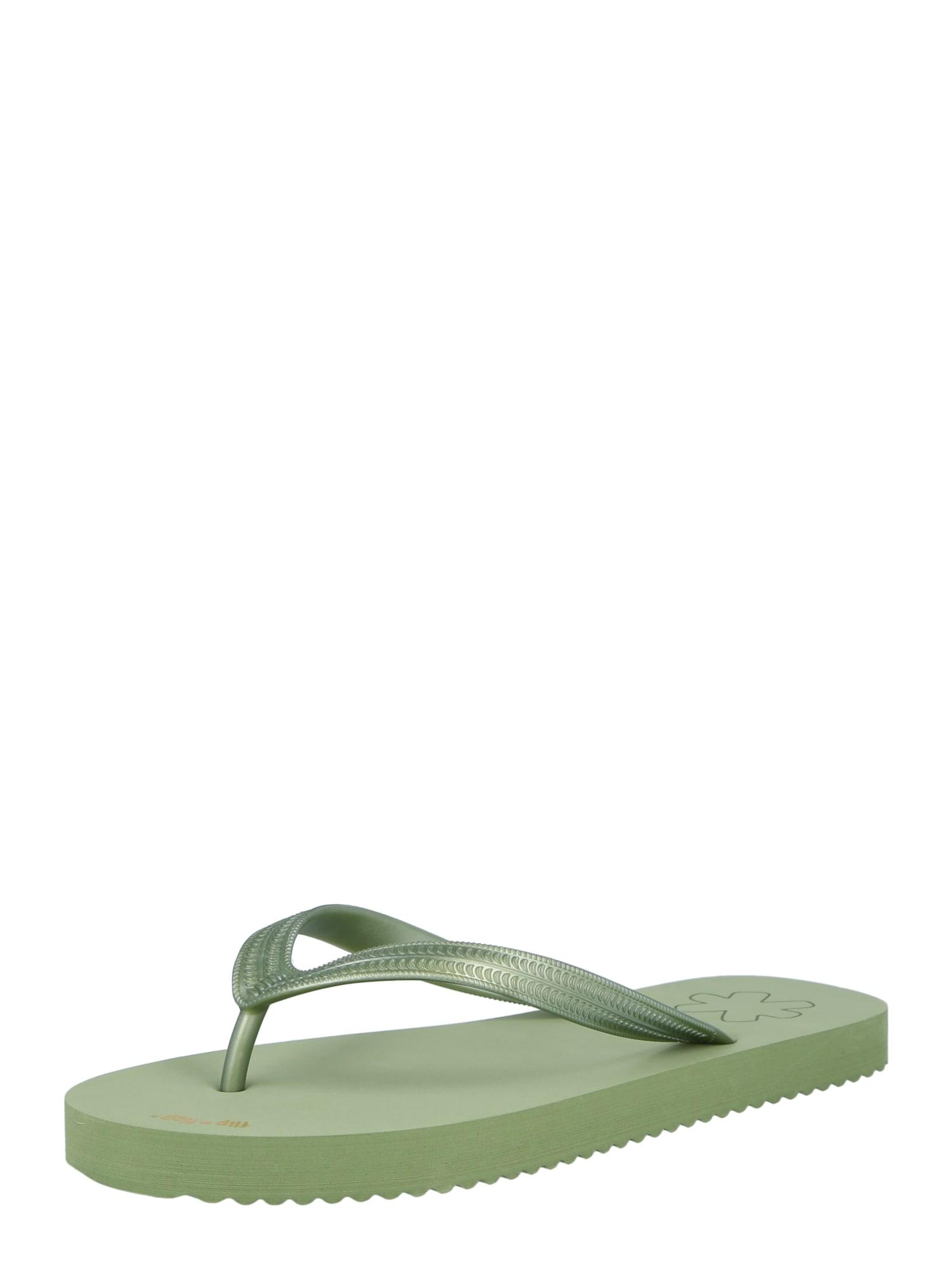 FLIP*FLOP Šlepetės per pirštą žalia